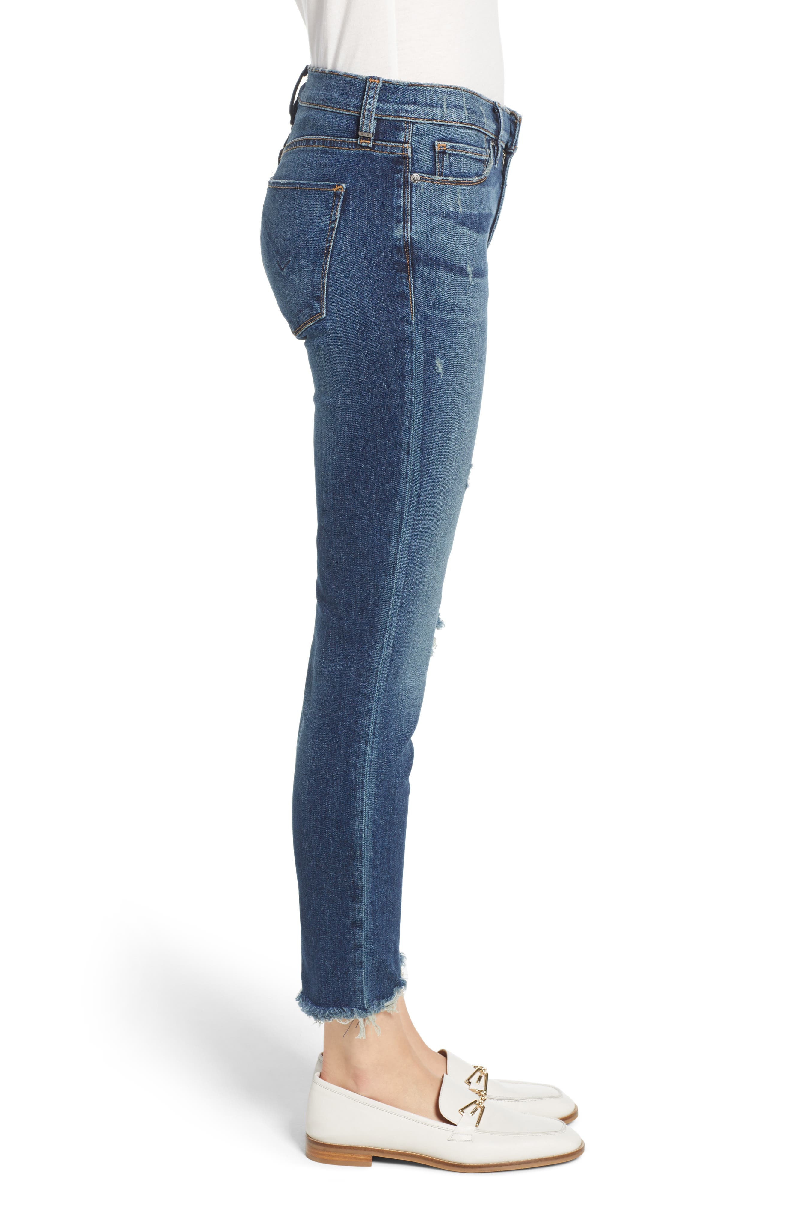 Tally Unfamed Hem Skinny Jeans,                             Alternate thumbnail 6, color,                             Side Bar W/ Raw Hem