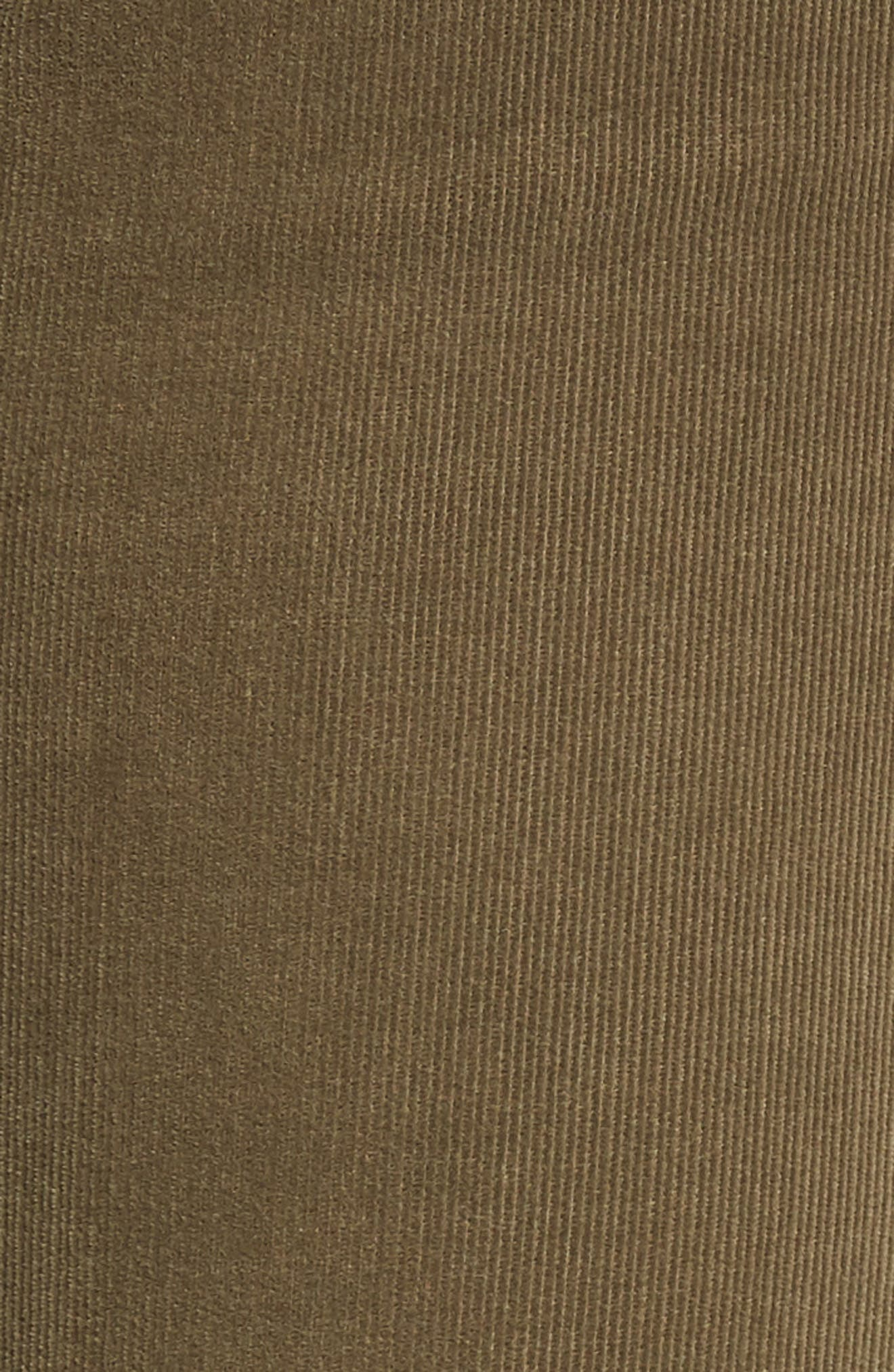 'Prima' Corduroy Skinny Pants,                             Alternate thumbnail 3, color,                             Dried Agave