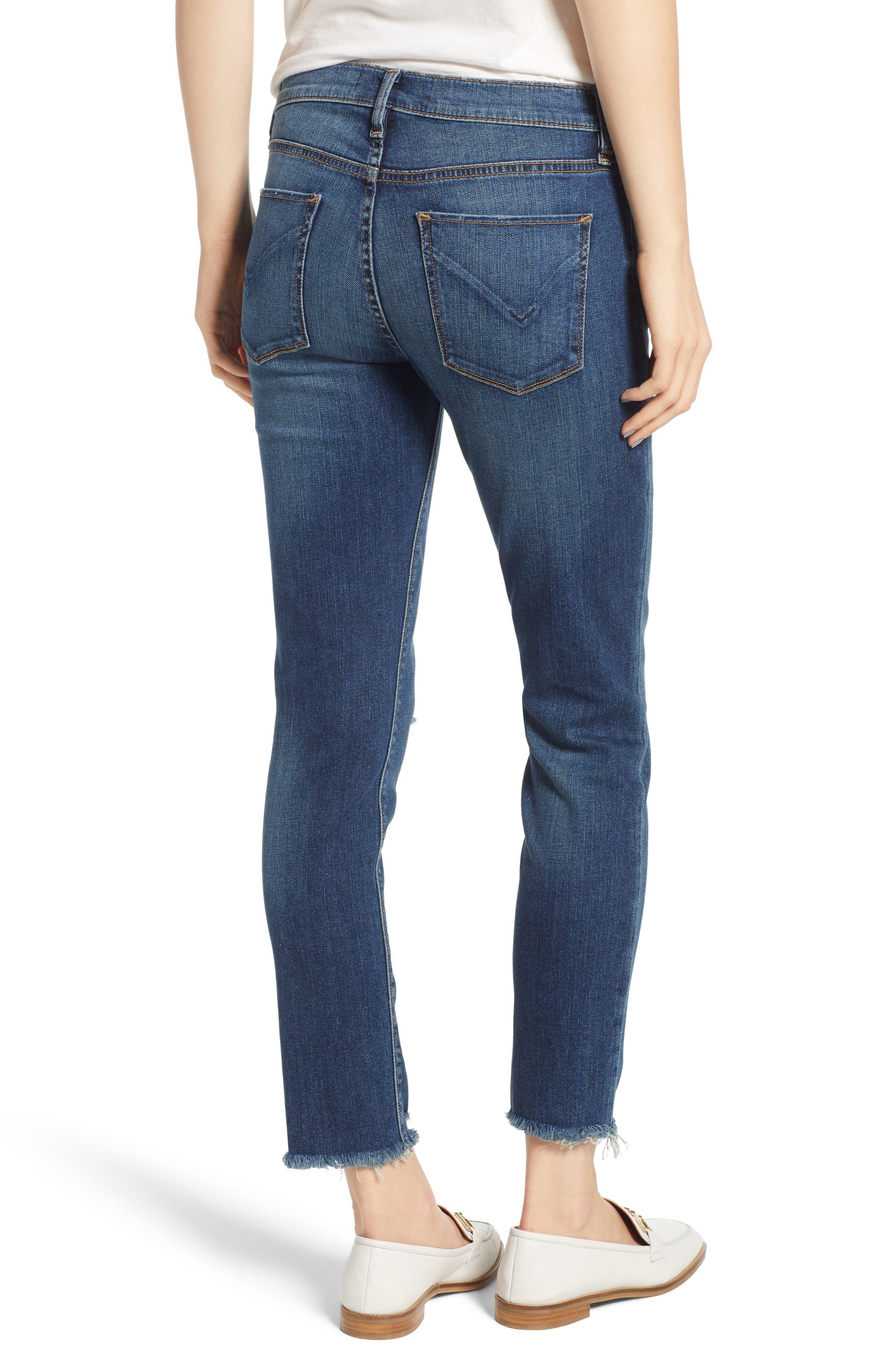 Tally Unfamed Hem Skinny Jeans,                             Alternate thumbnail 2, color,                             Side Bar W/ Raw Hem