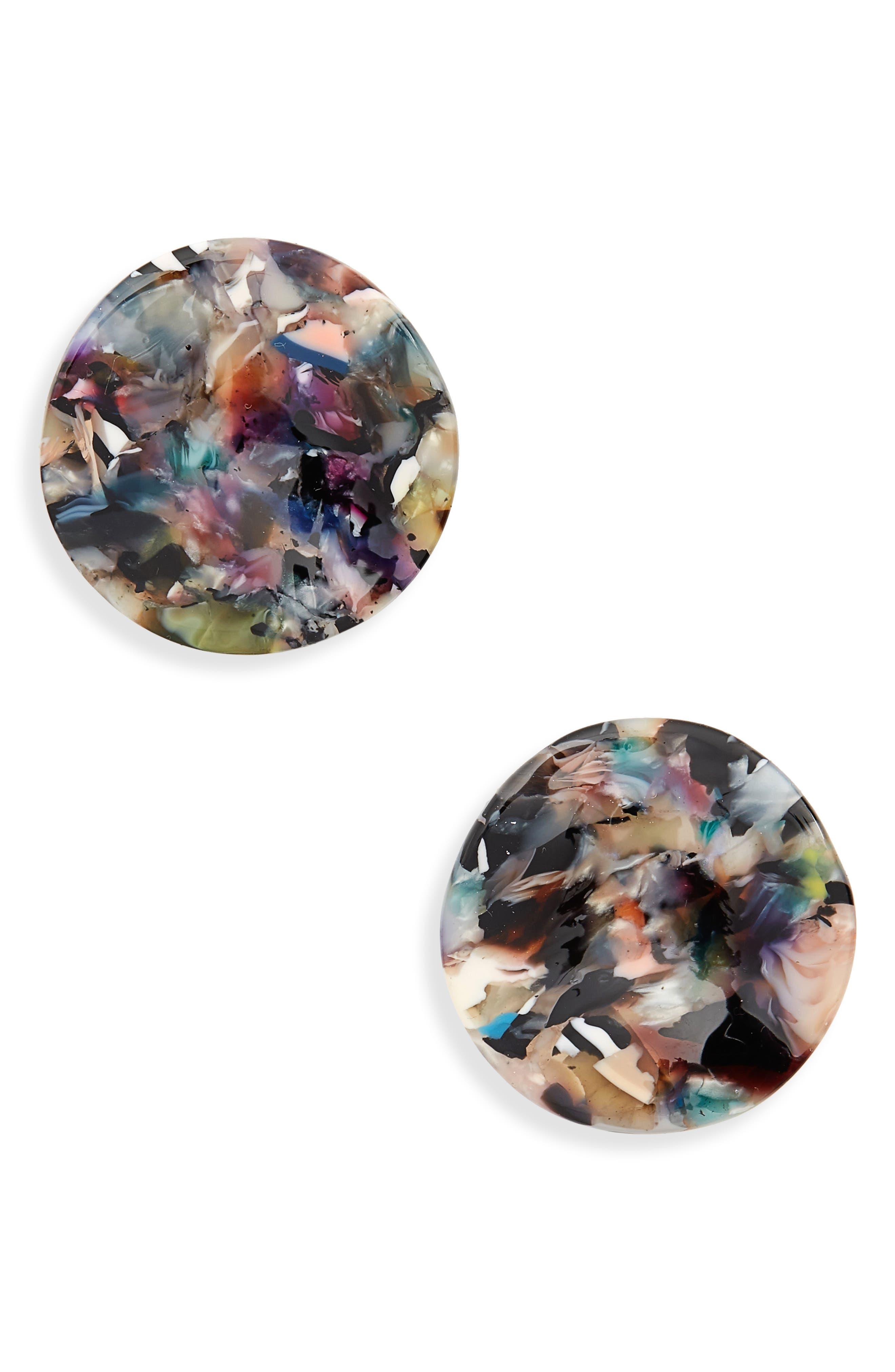 Sasha Stud Earrings,                         Main,                         color, Multi