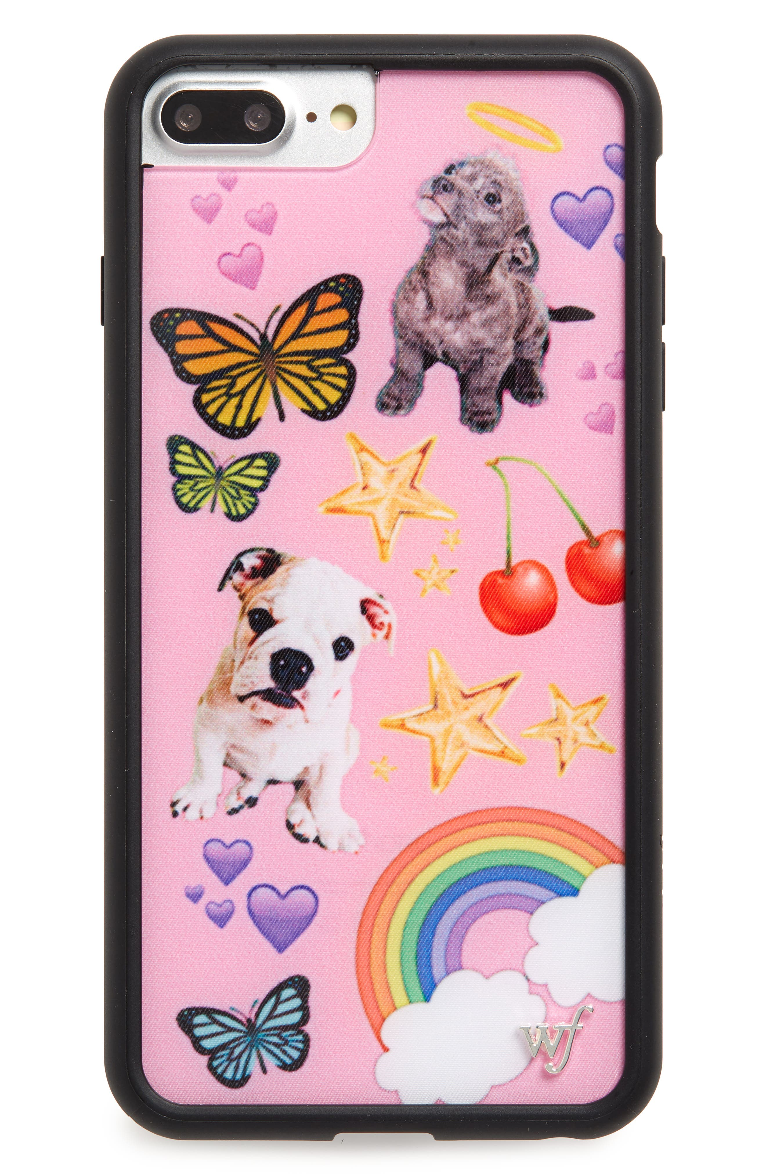 Puppy Love iPhone 6/7/8 Plus Case,                             Main thumbnail 1, color,                             Pink Multi