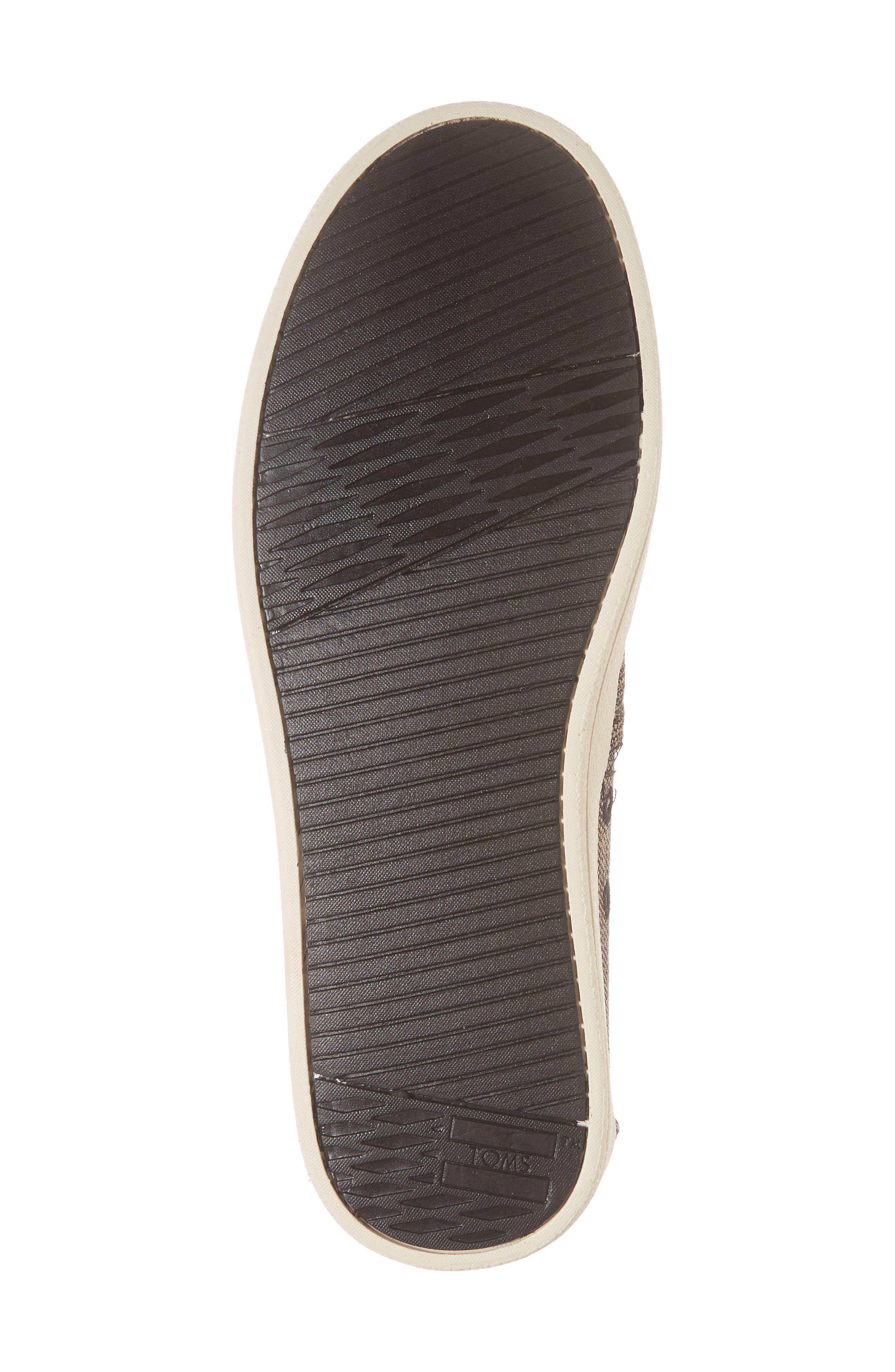 Avalon Slip-On Sneaker,                             Alternate thumbnail 6, color,                             Black Metallic Woven