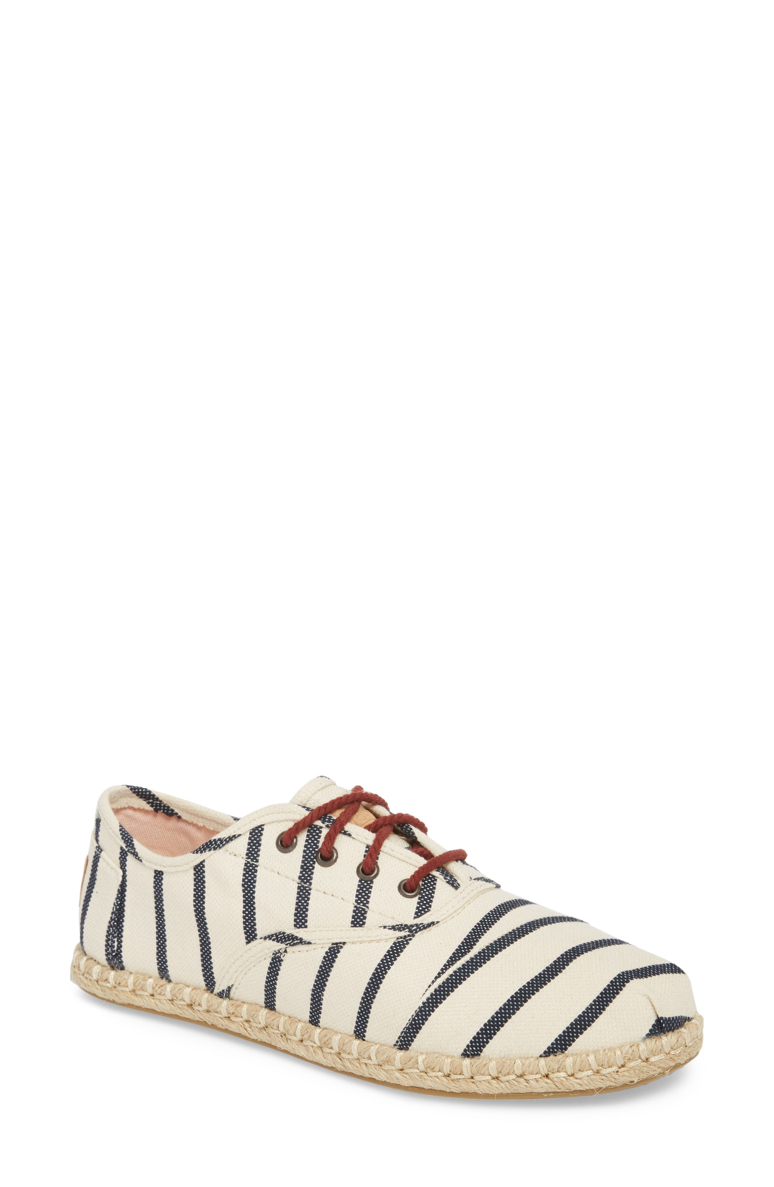 Cordones Sneaker,                             Main thumbnail 1, color,                             Natural Stripe Woven