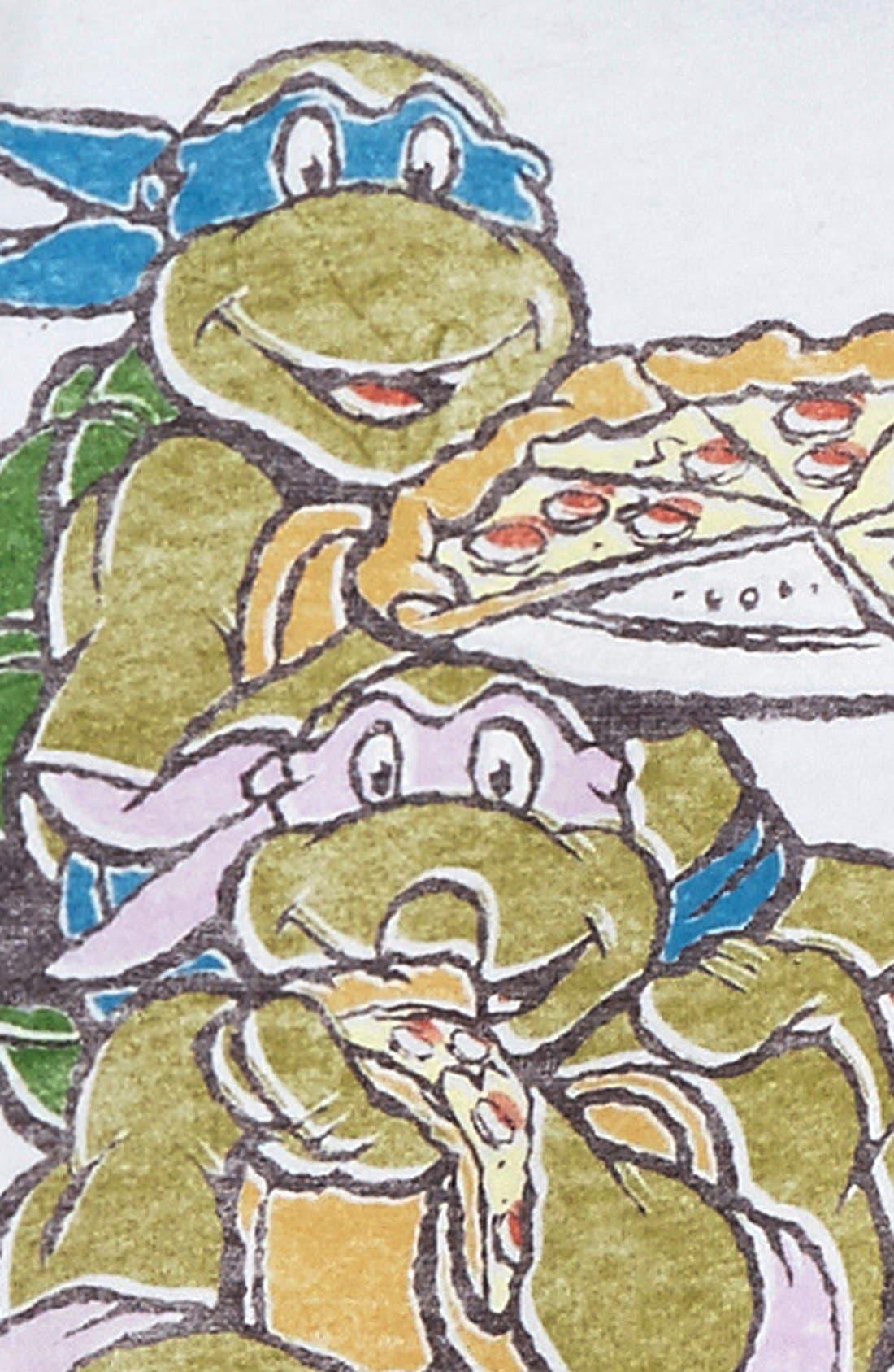 Alternate Image 2  - Junk Food 'Teenage Mutant Ninja Turtles™ - Eat Pizza' Graphic T-Shirt (Little Boys & Big Boys)