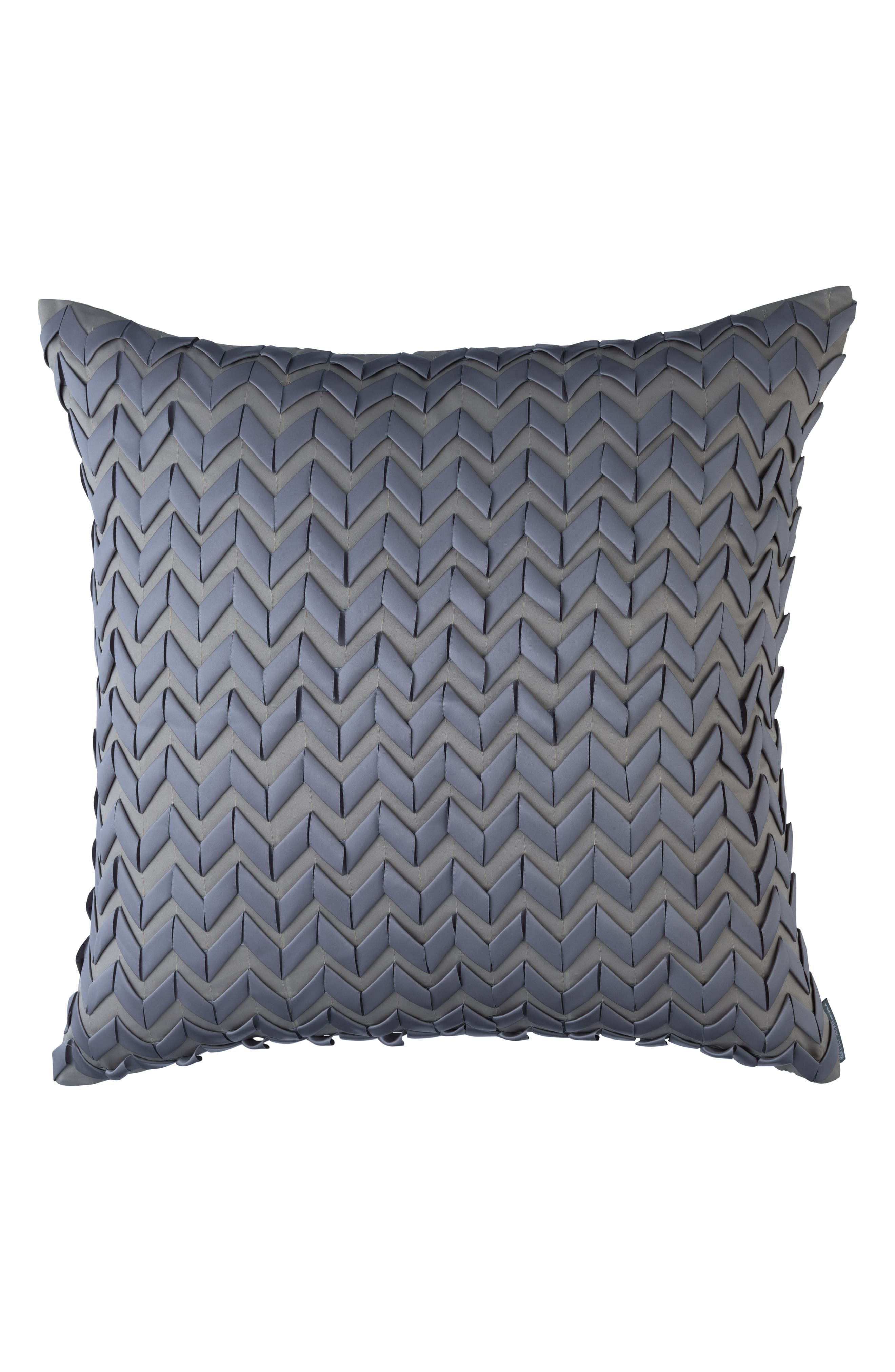 Ultra Ribbon Accent Pillow,                         Main,                         color, Gray