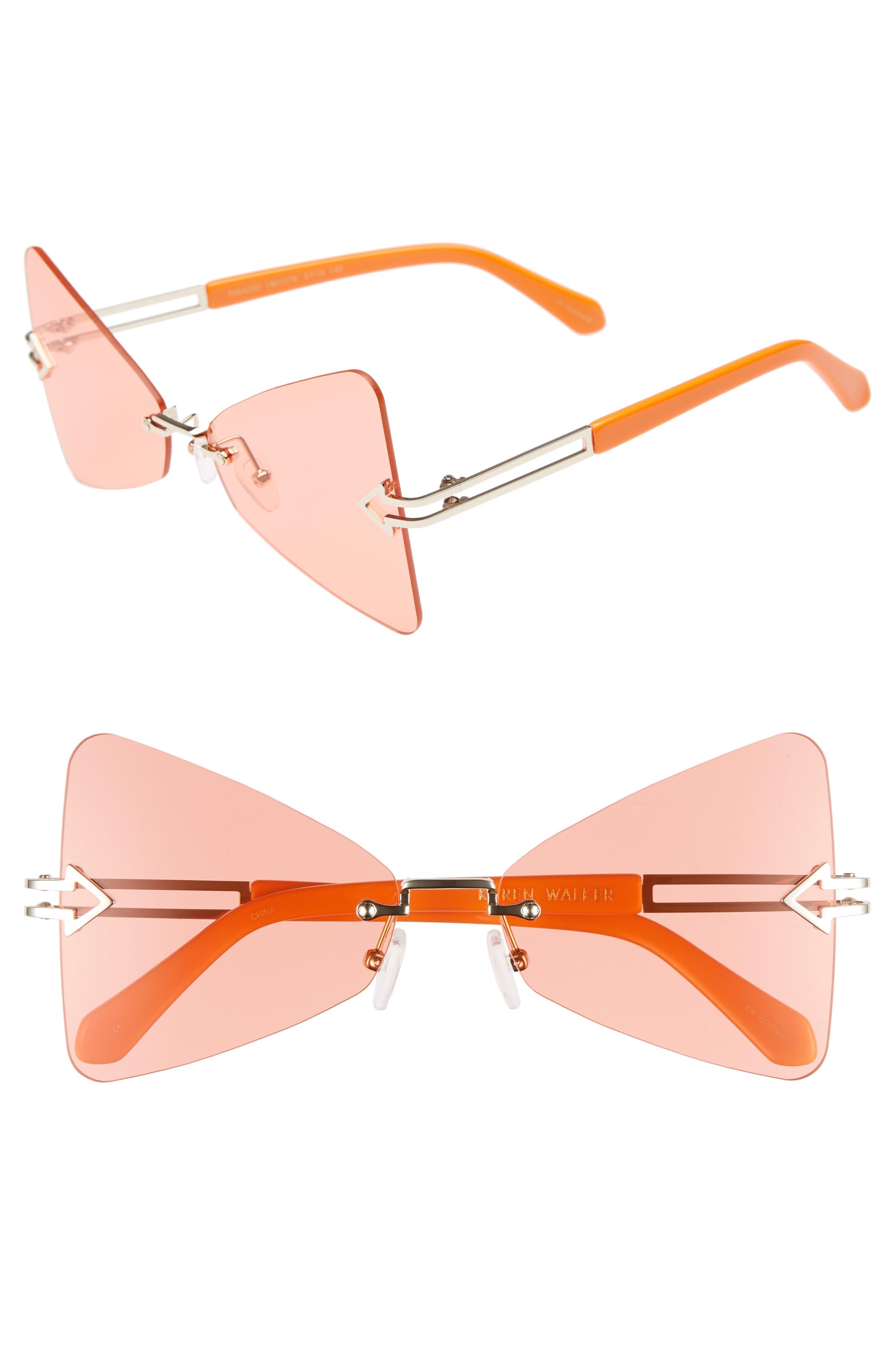 Paradise 57mm Sunglasses,                         Main,                         color, Tangerine/ Coral