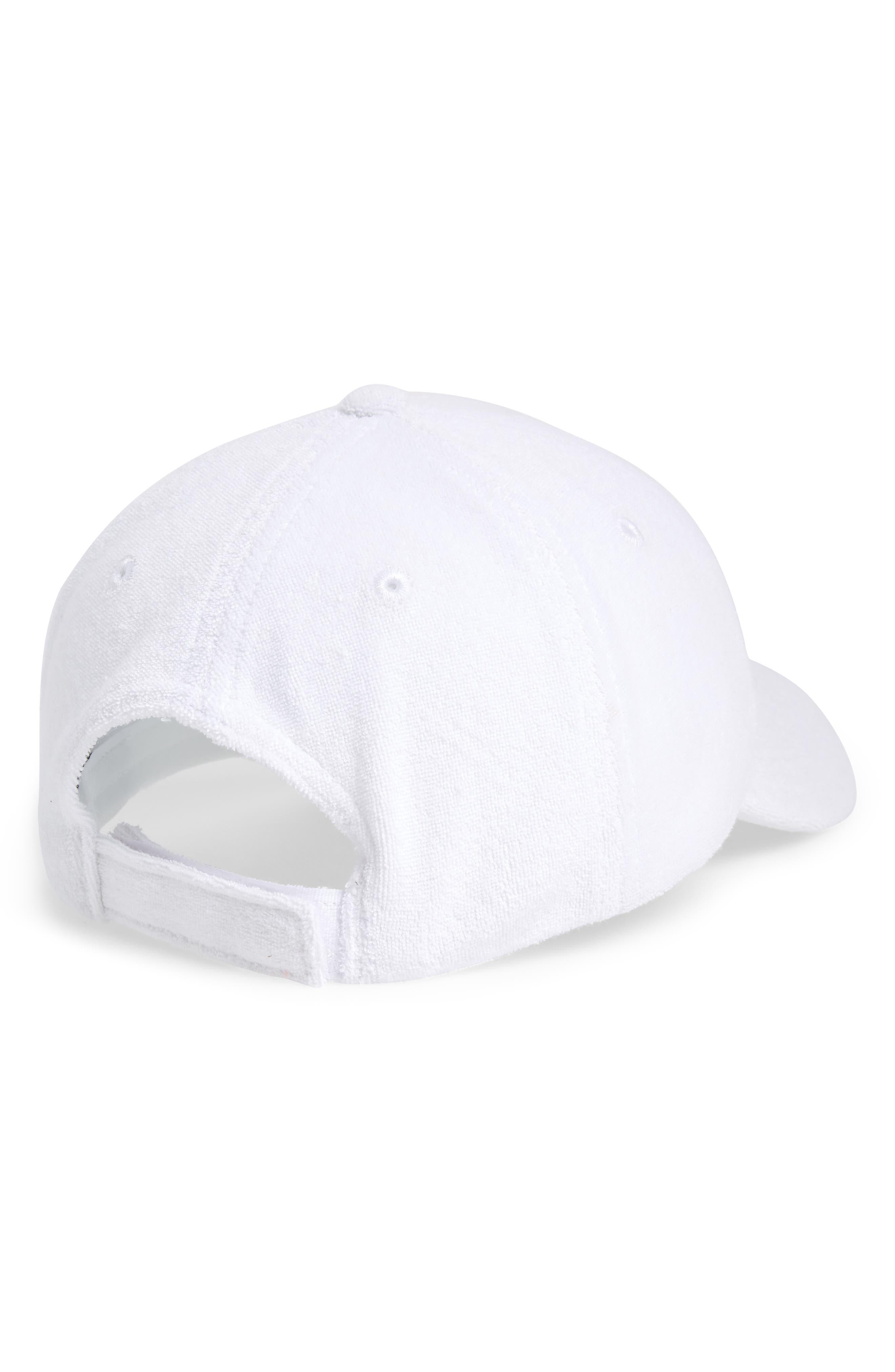 Terry Baseball Hat,                             Alternate thumbnail 2, color,                             White