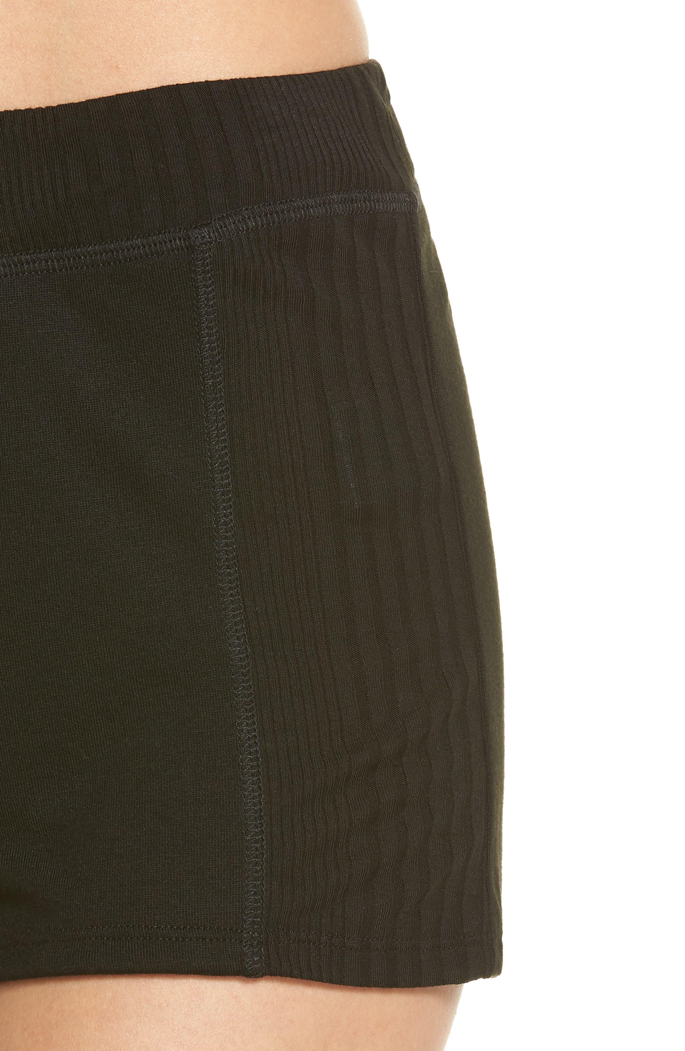 Pajama Shorts,                             Alternate thumbnail 4, color,                             Black