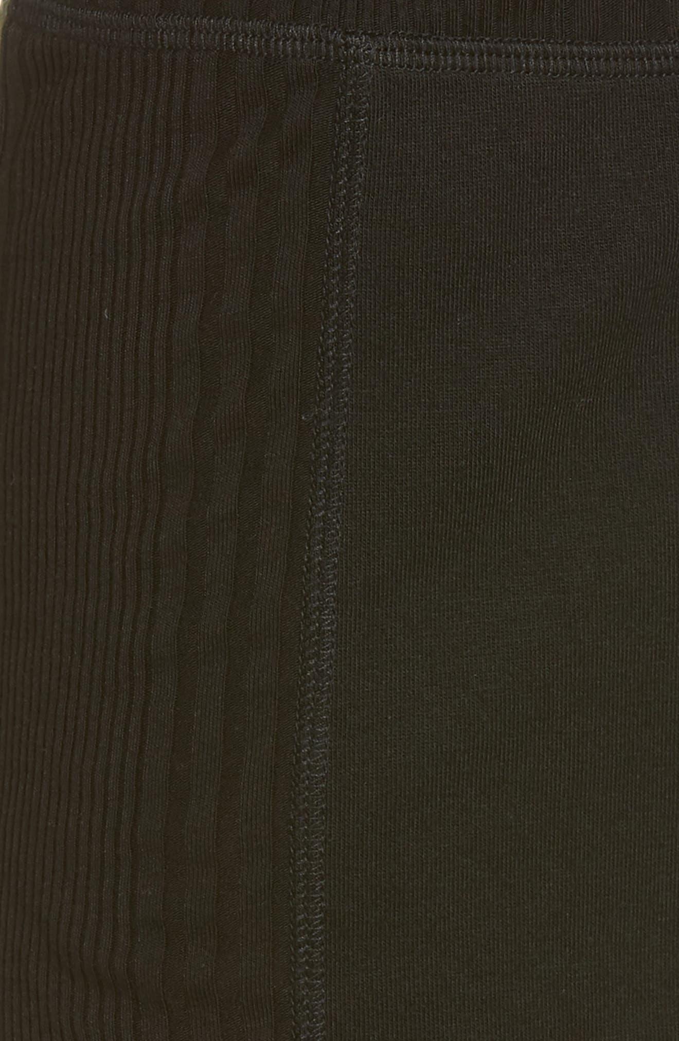 Pajama Shorts,                             Alternate thumbnail 5, color,                             Black