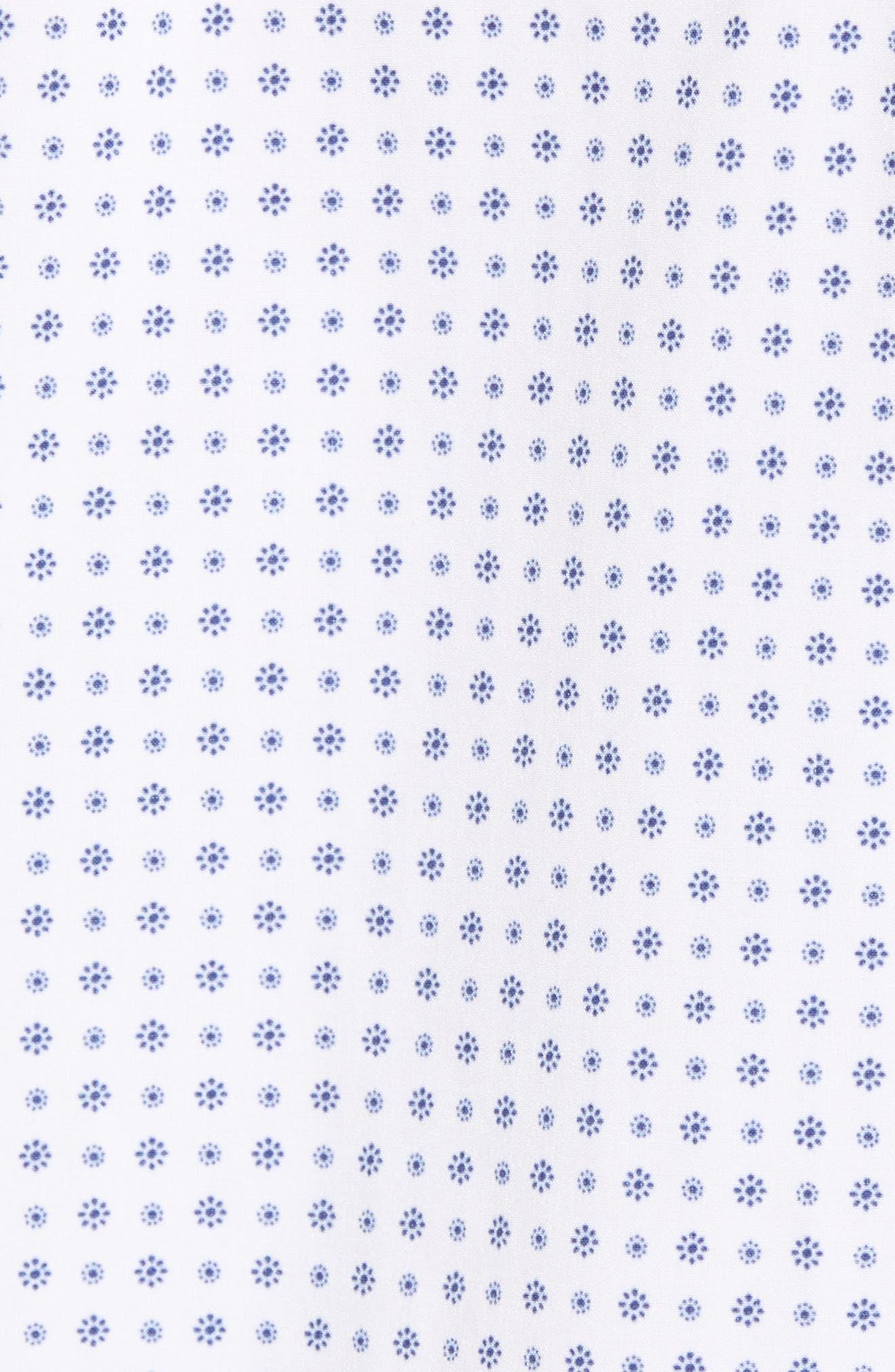 Darst Slim Fit Performance Sport Shirt,                             Alternate thumbnail 3, color,                             White