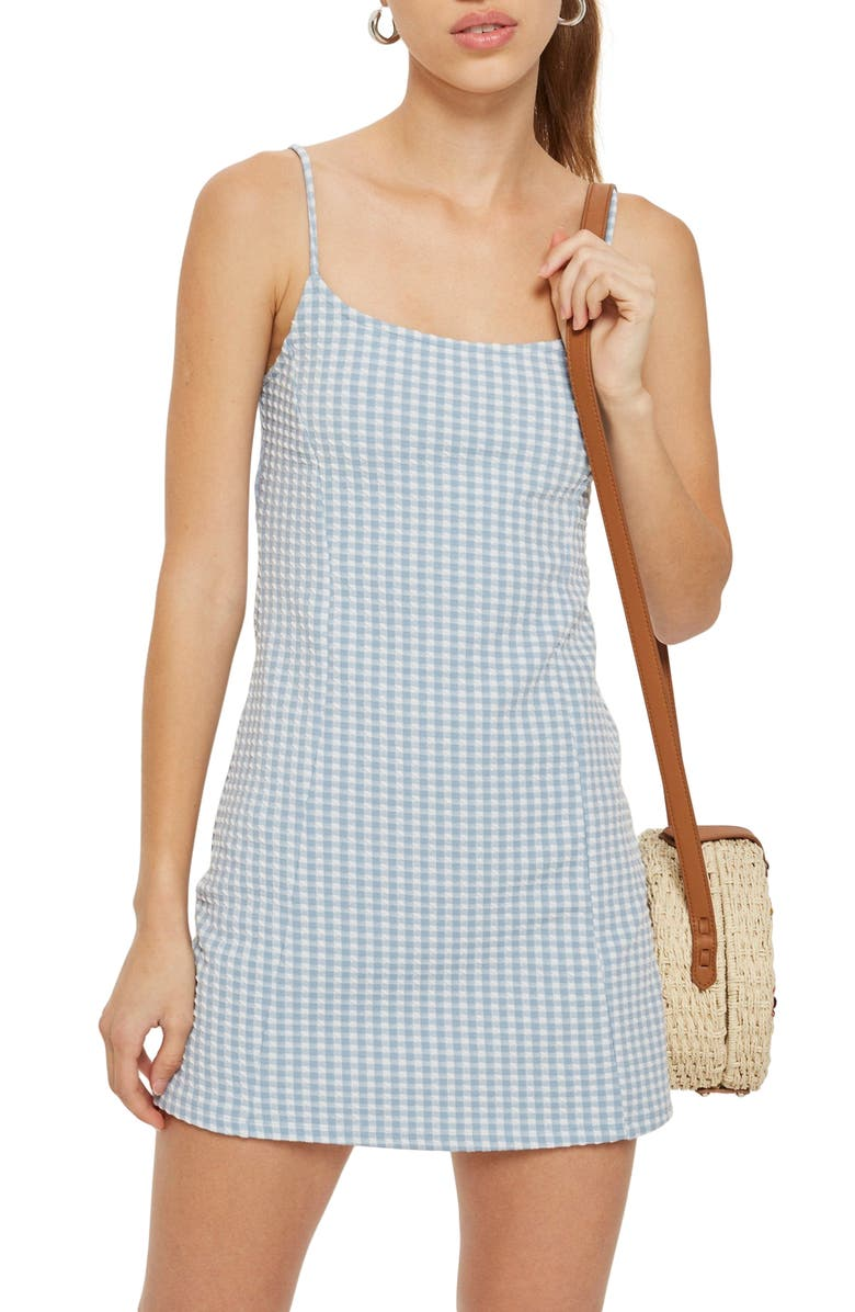 Gingham Pinafore Minidress