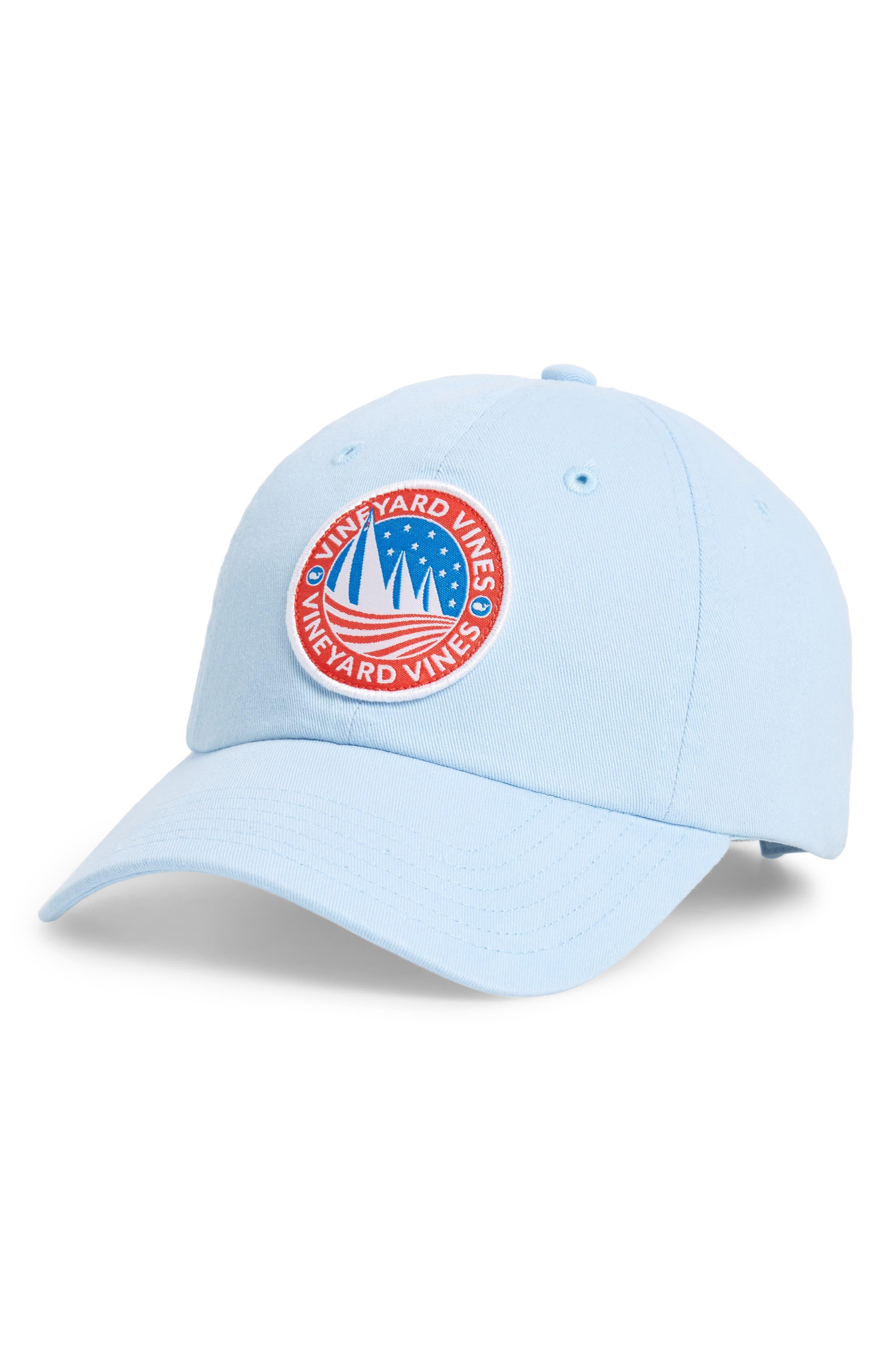 Classic Sail Patch Baseball Cap,                             Main thumbnail 1, color,                             Surf Blue