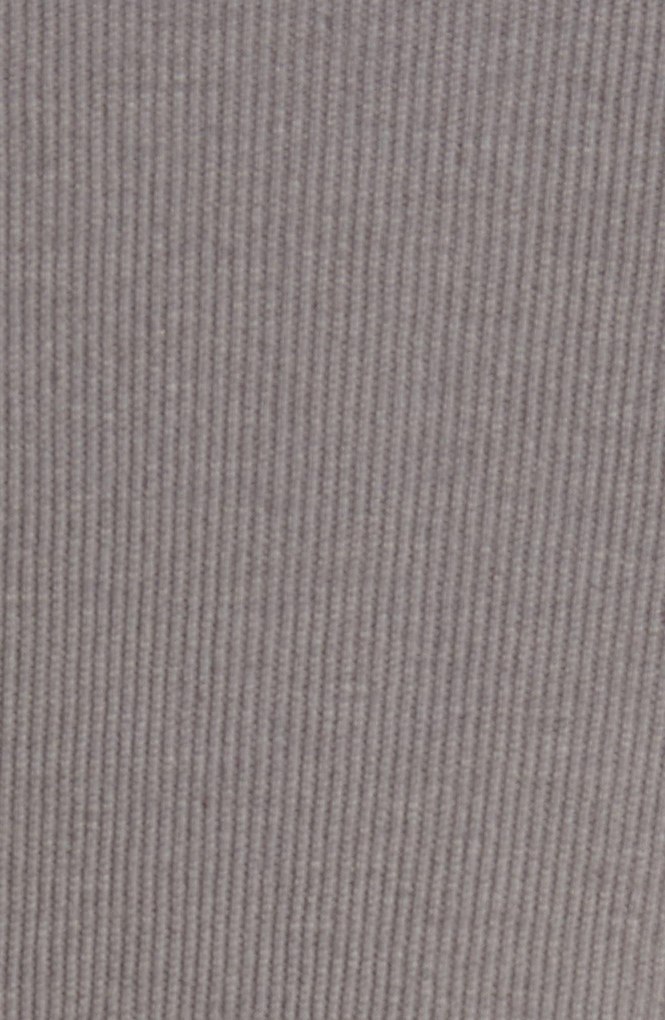Ribbed Henley T-Shirt,                             Alternate thumbnail 5, color,                             Grey Shade