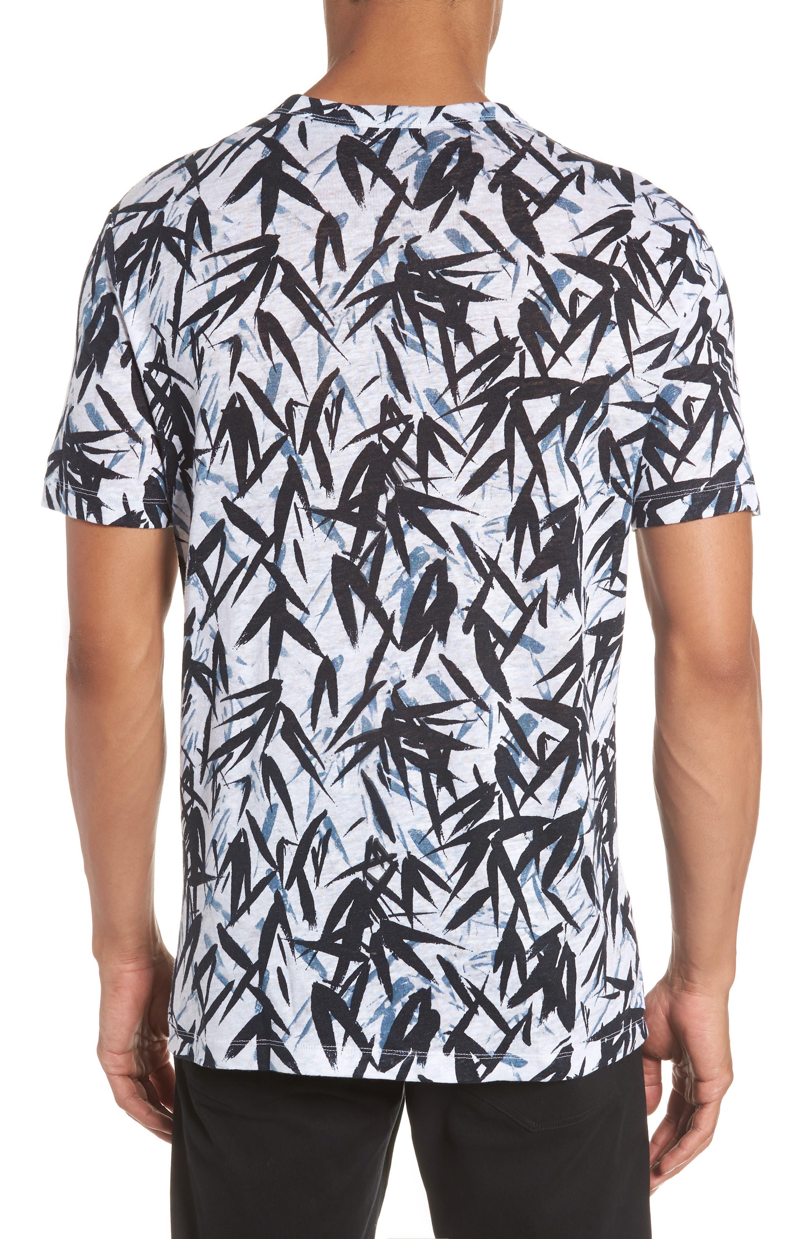 Essential Pinal Linen T-Shirt,                             Alternate thumbnail 2, color,                             Hydro Multi