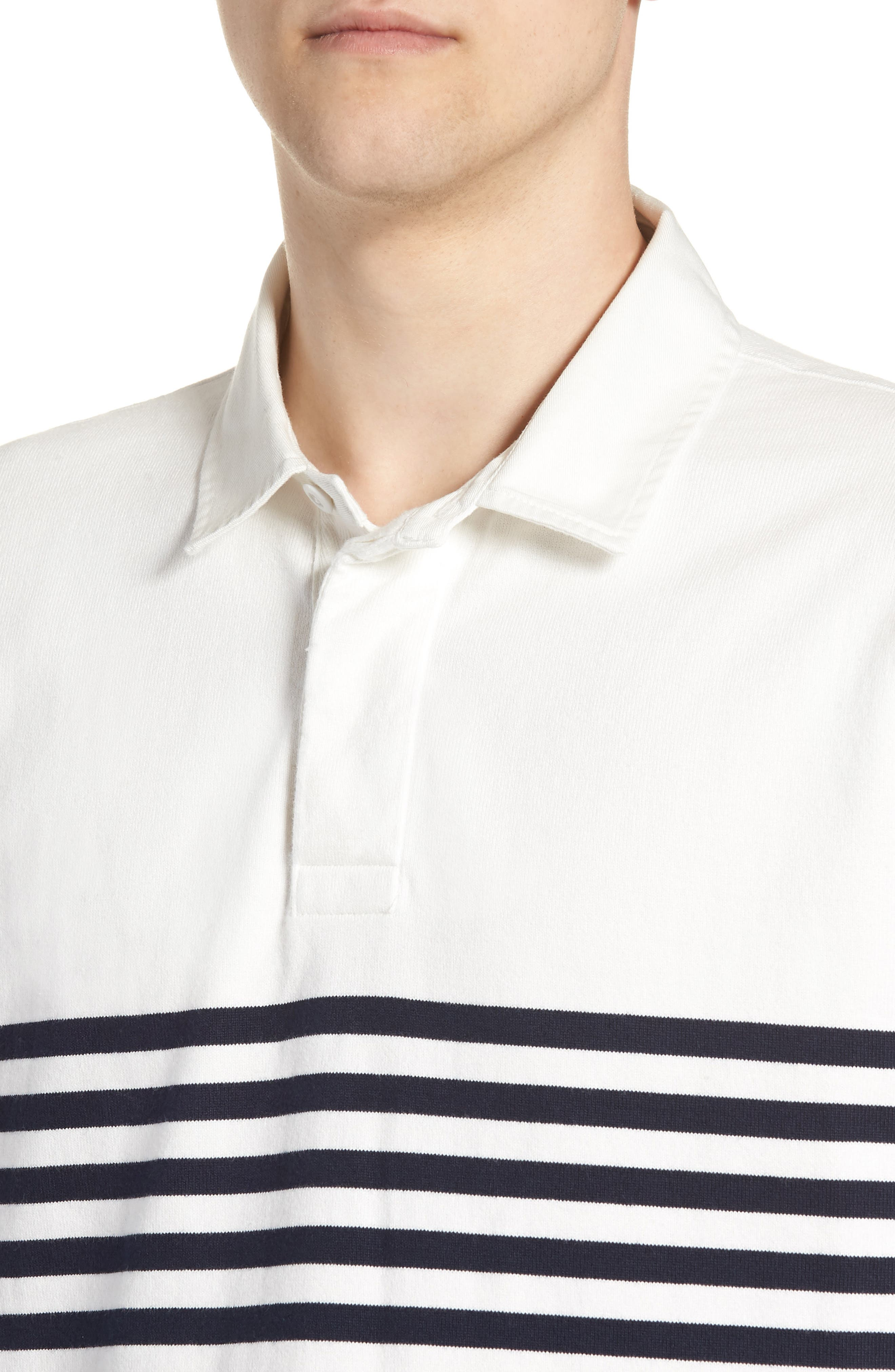 1984 Colorblock Stripe Rugby Shirt,                             Alternate thumbnail 4, color,                             Navy White