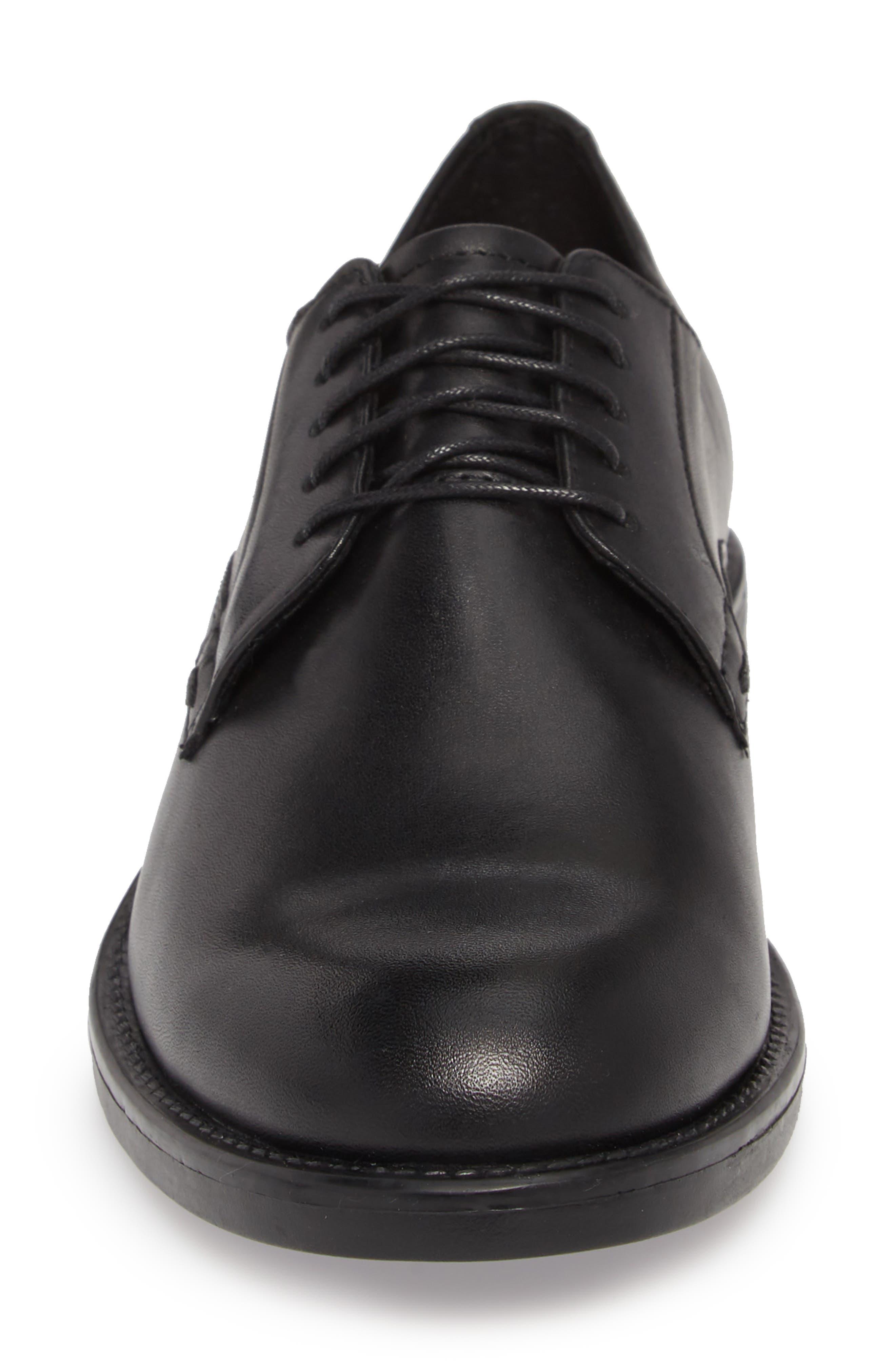 Amina Derby,                             Alternate thumbnail 6, color,                             Black Leather