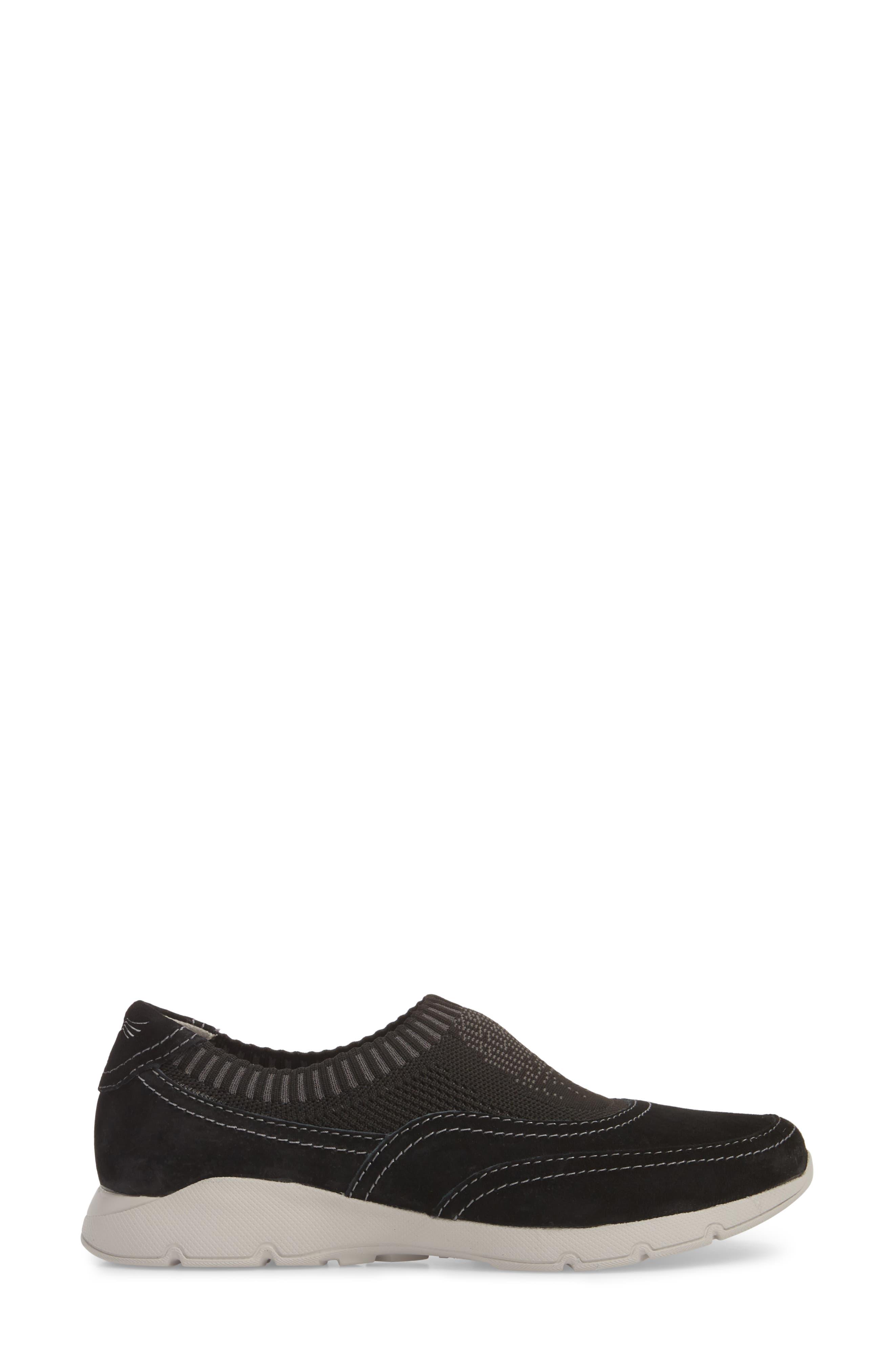 Alice Slip-On Sneaker,                             Alternate thumbnail 6, color,                             Black Suede