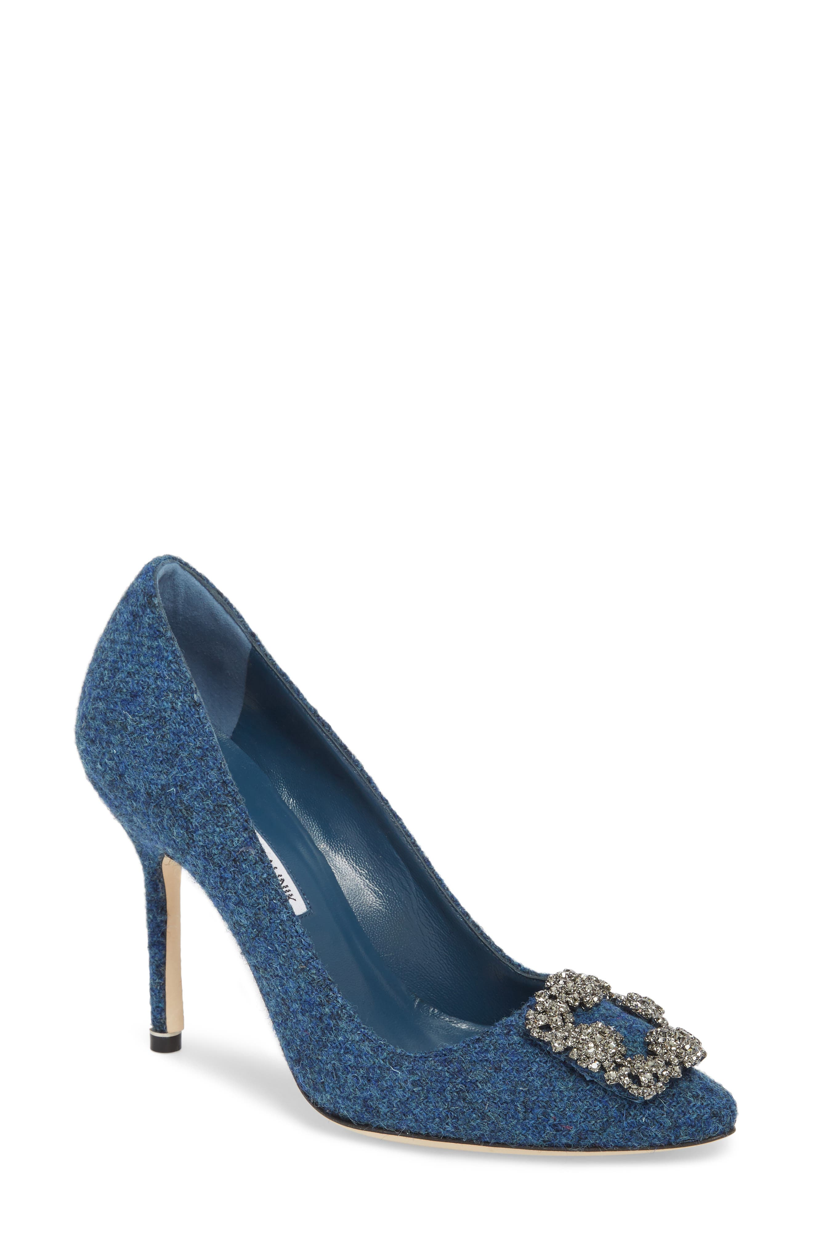 de92ce8c0bcea ... czech manolo blahnik hangisi jewel buckle pump women b3ace d4be1