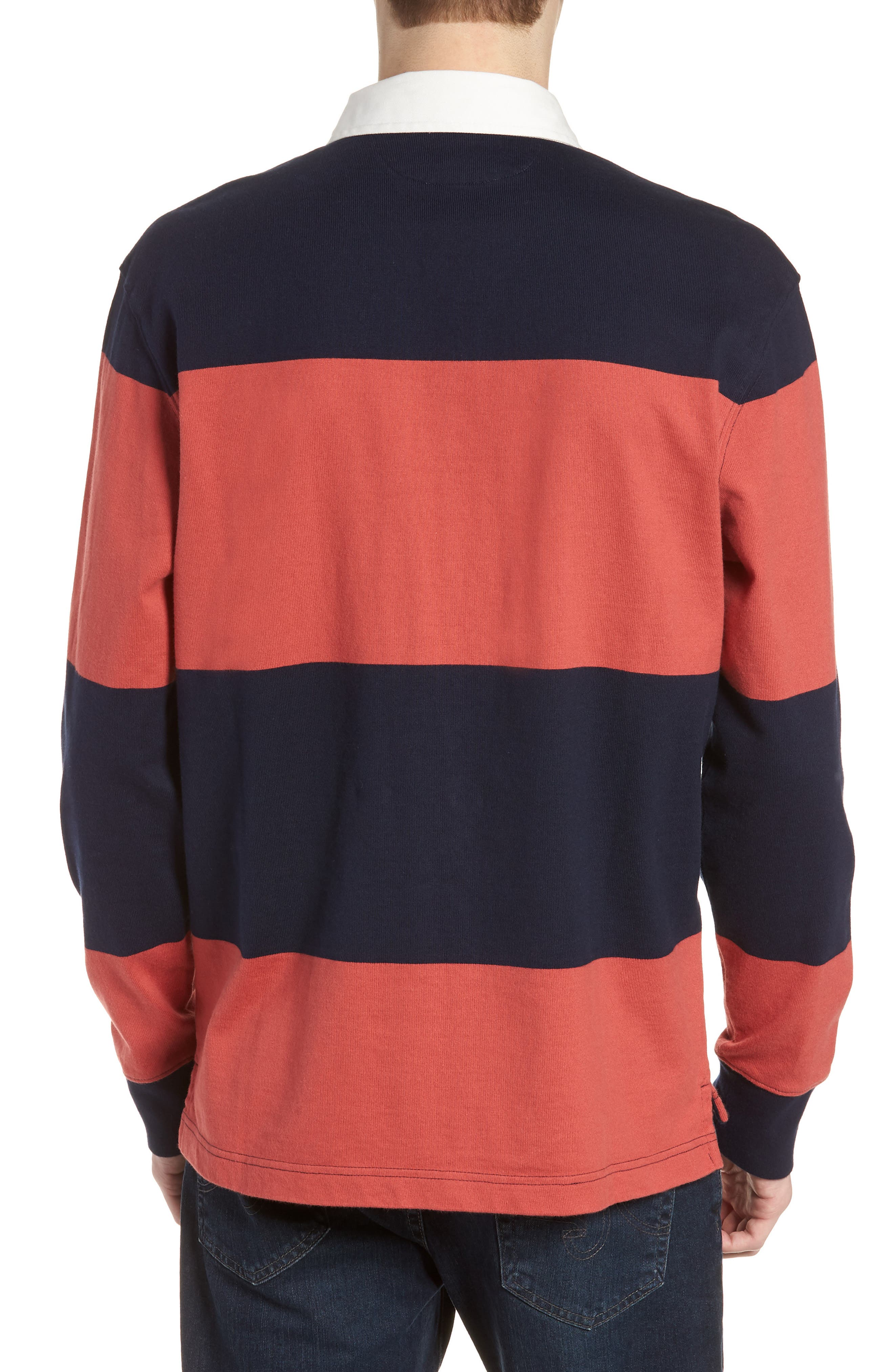 1984 Stripe Rugby Shirt,                             Alternate thumbnail 2, color,                             Old Red