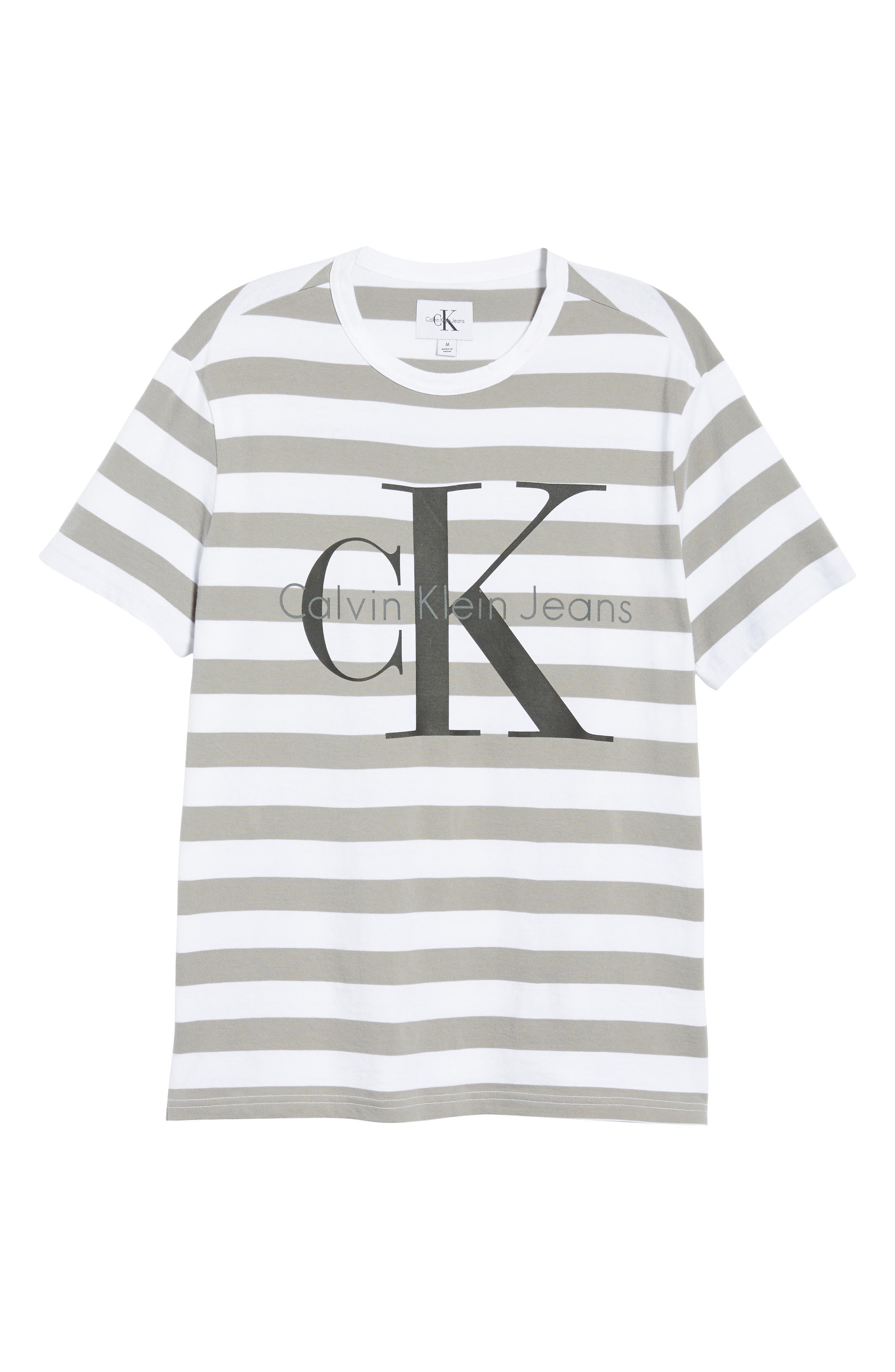 Stripe Reissue T-Shirt,                             Alternate thumbnail 6, color,                             Standard White