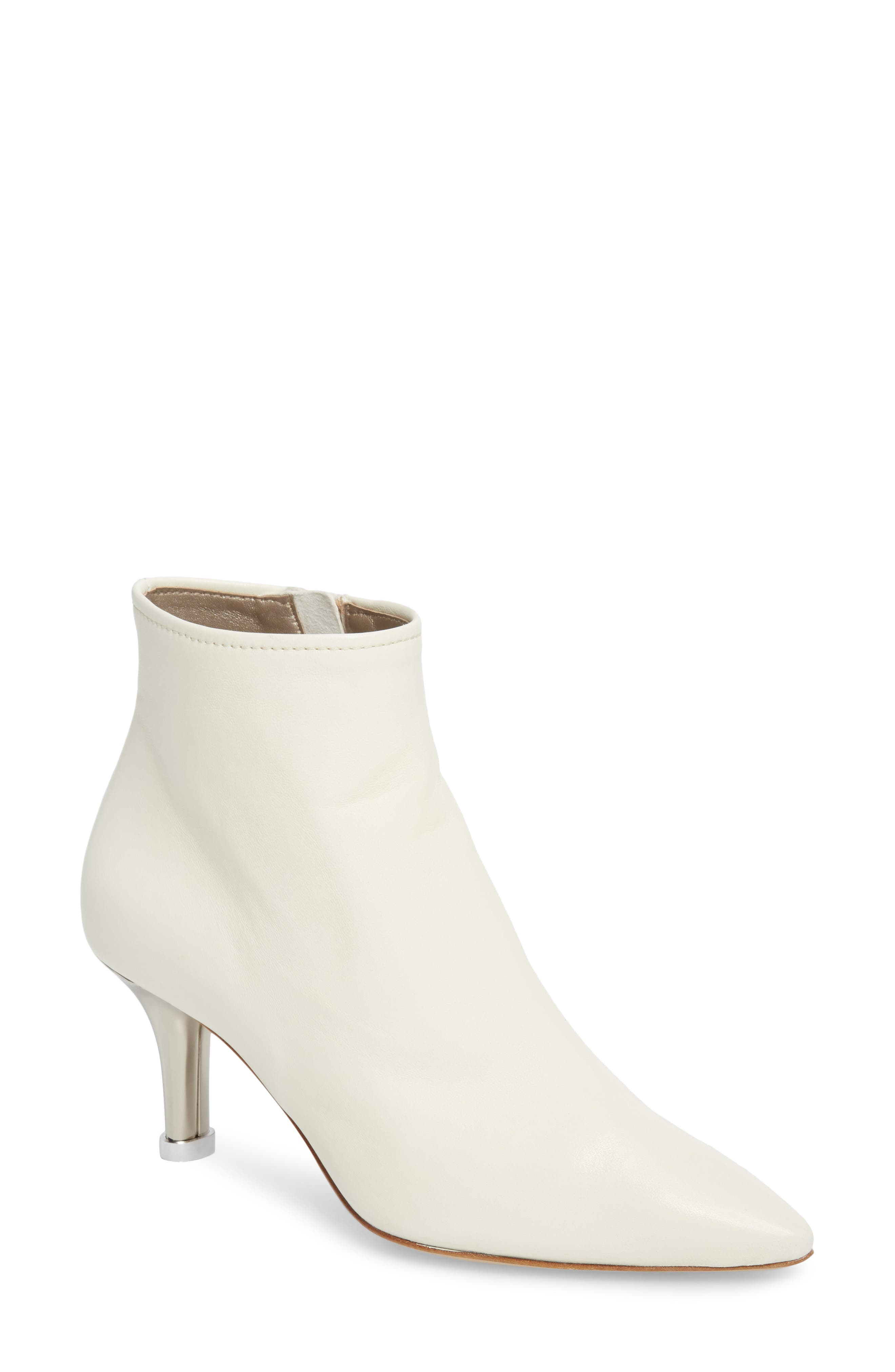 AGL ATTILIO GIUSTI LEOMBRUNI Summer Bootie, Off White Leather