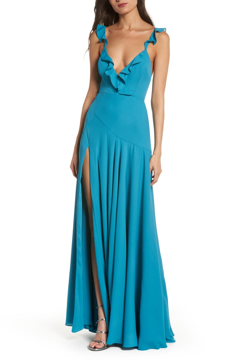 Fame And Partners THE CORA RUFFLE GOWN