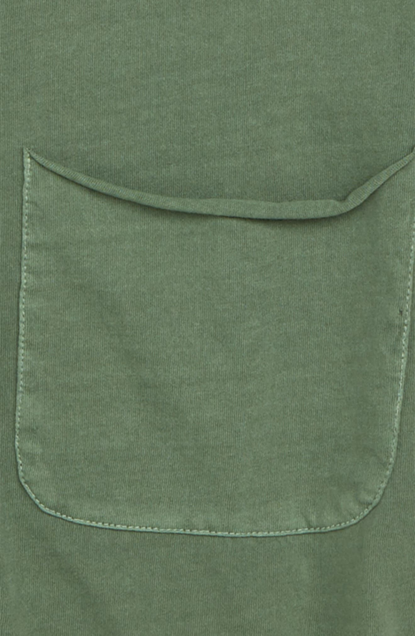 Raw Edge Pocket T-Shirt,                             Alternate thumbnail 2, color,                             Green Agave
