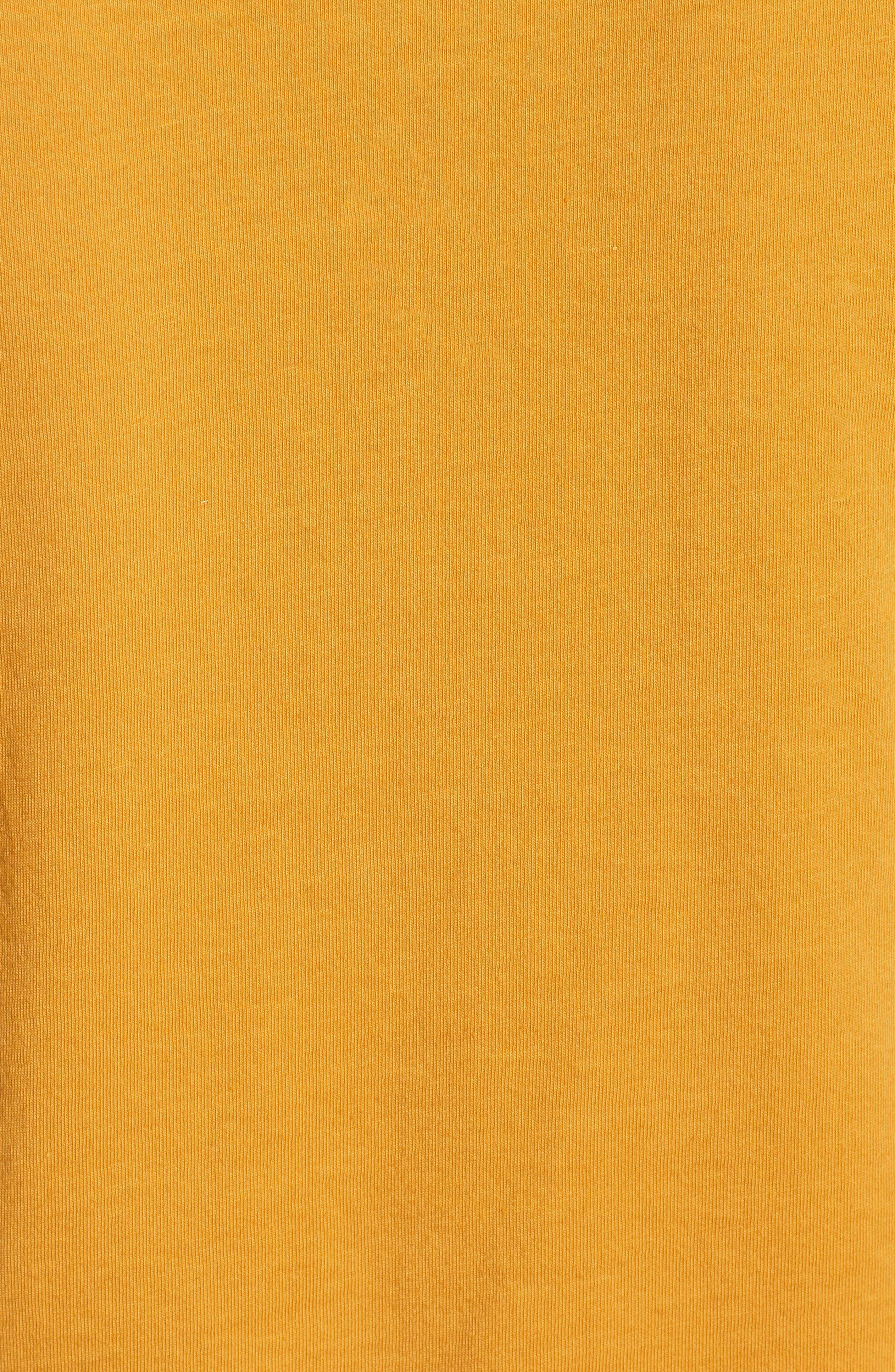 Smiley Tie Hem Boxy Tee,                             Alternate thumbnail 3, color,                             Golden