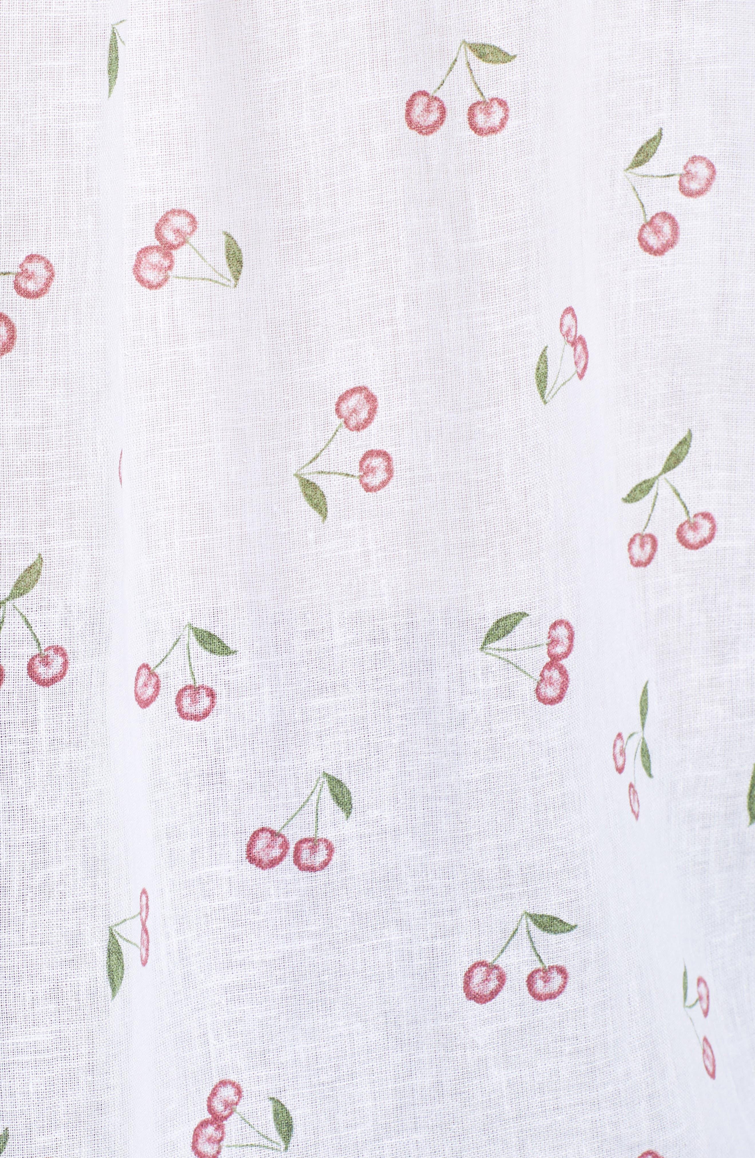 Charli Shirt,                             Alternate thumbnail 3, color,                             White Cherries