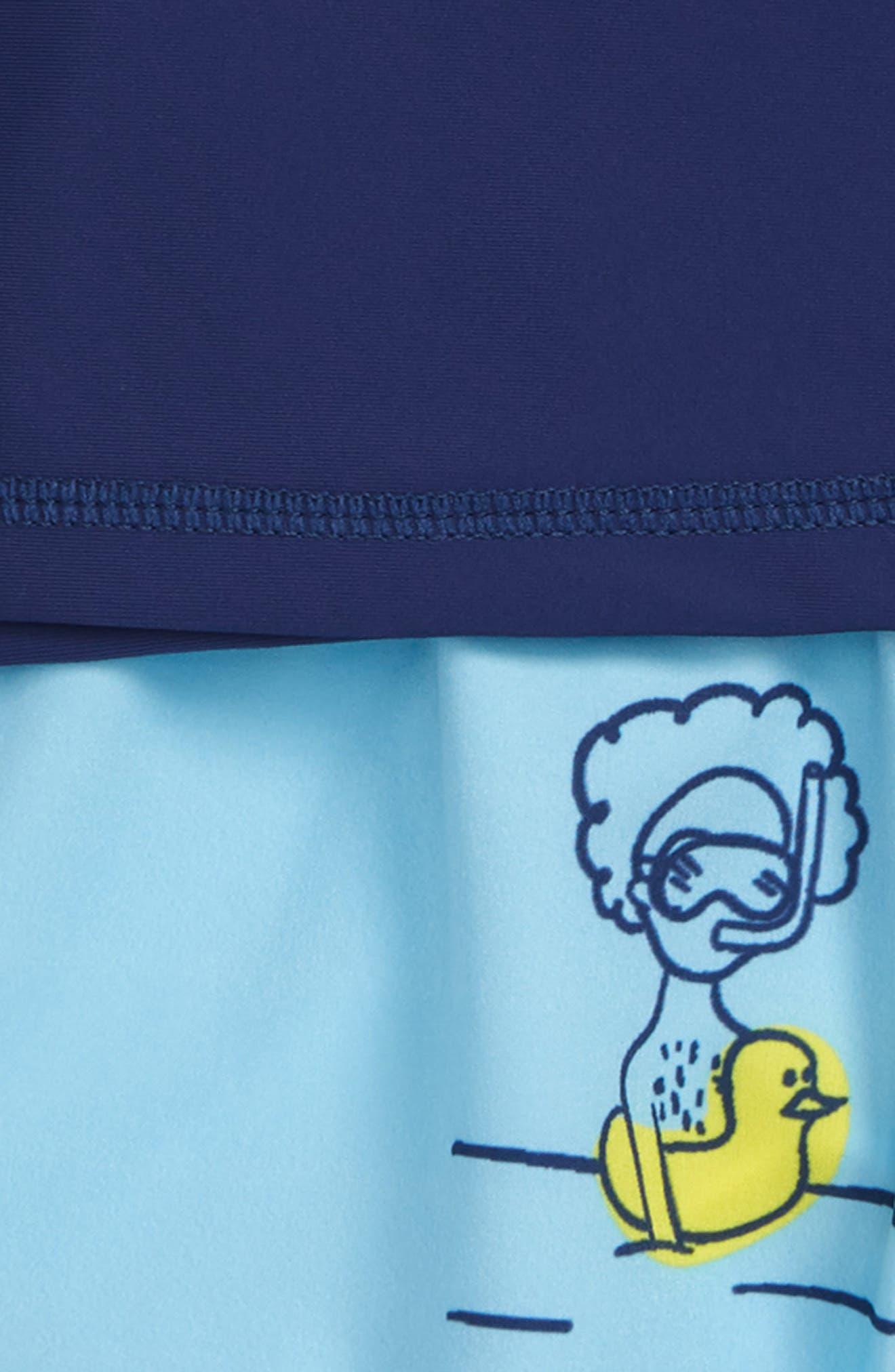 Scuba Rashguard & Board Shorts Set,                             Alternate thumbnail 2, color,                             Multi