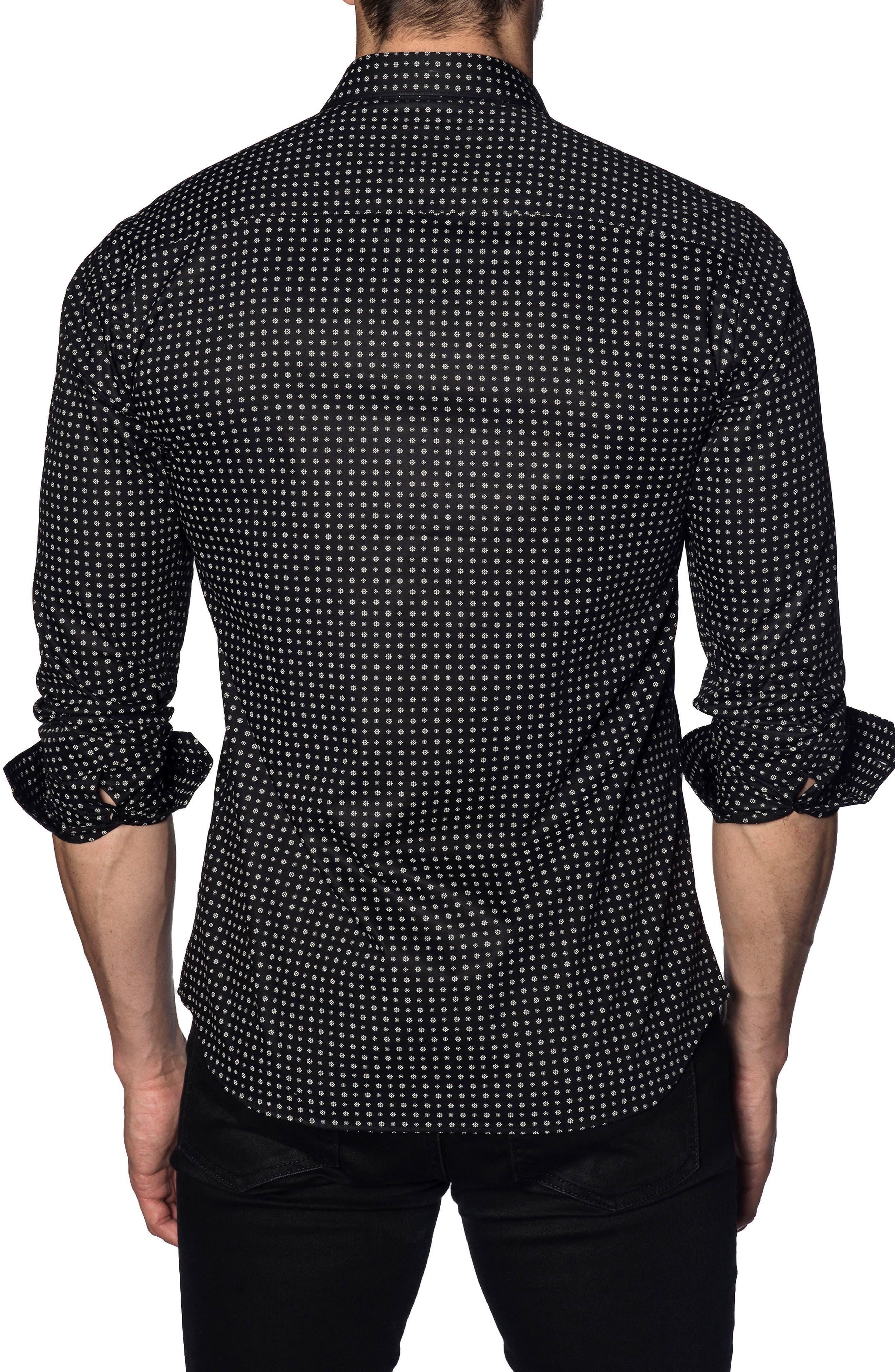 Trim Fit Sport Shirt,                             Alternate thumbnail 2, color,                             Black