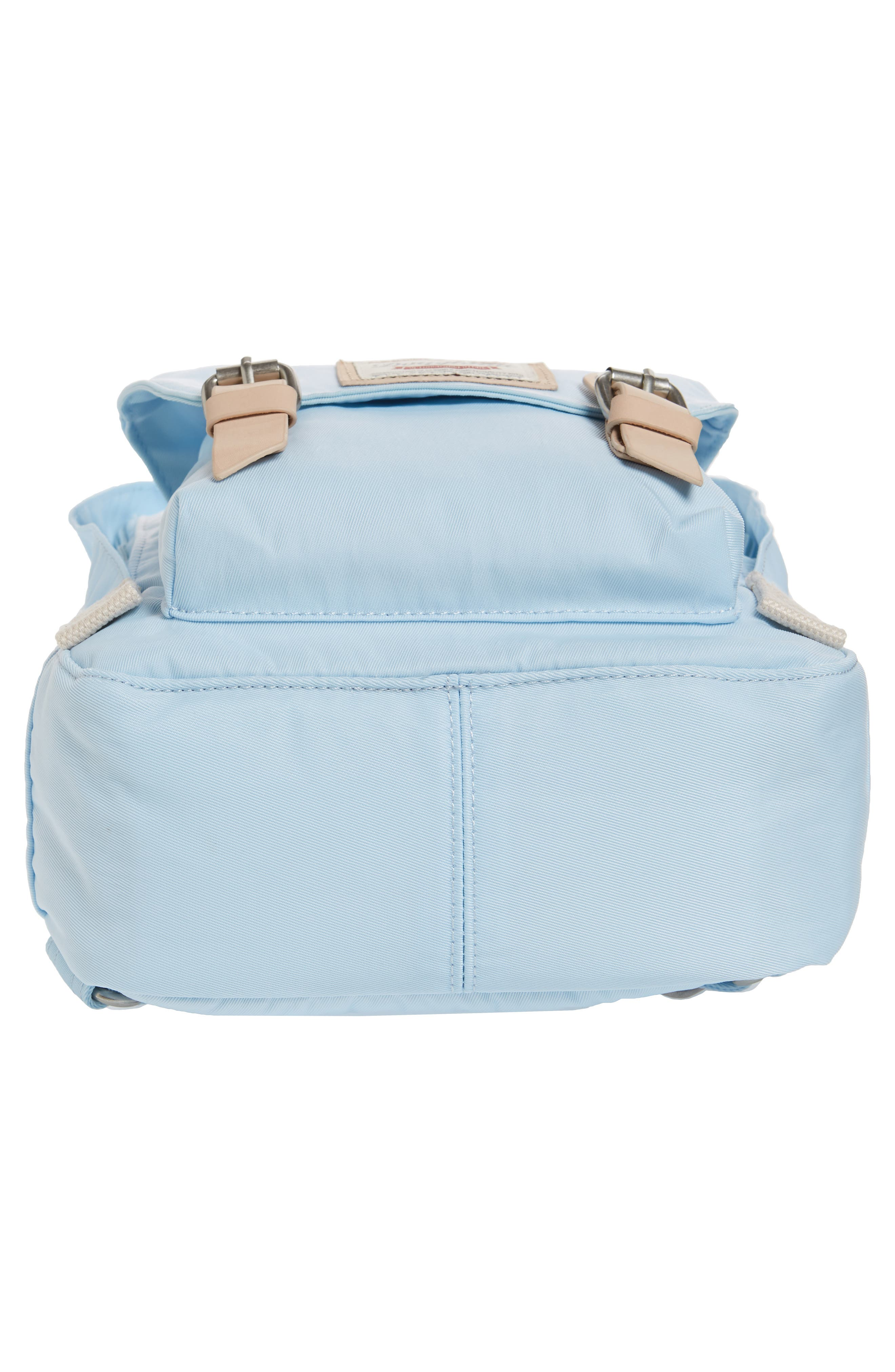 Mini Macaroon Water Resistant Backpack,                             Alternate thumbnail 4, color,                             Iceberg