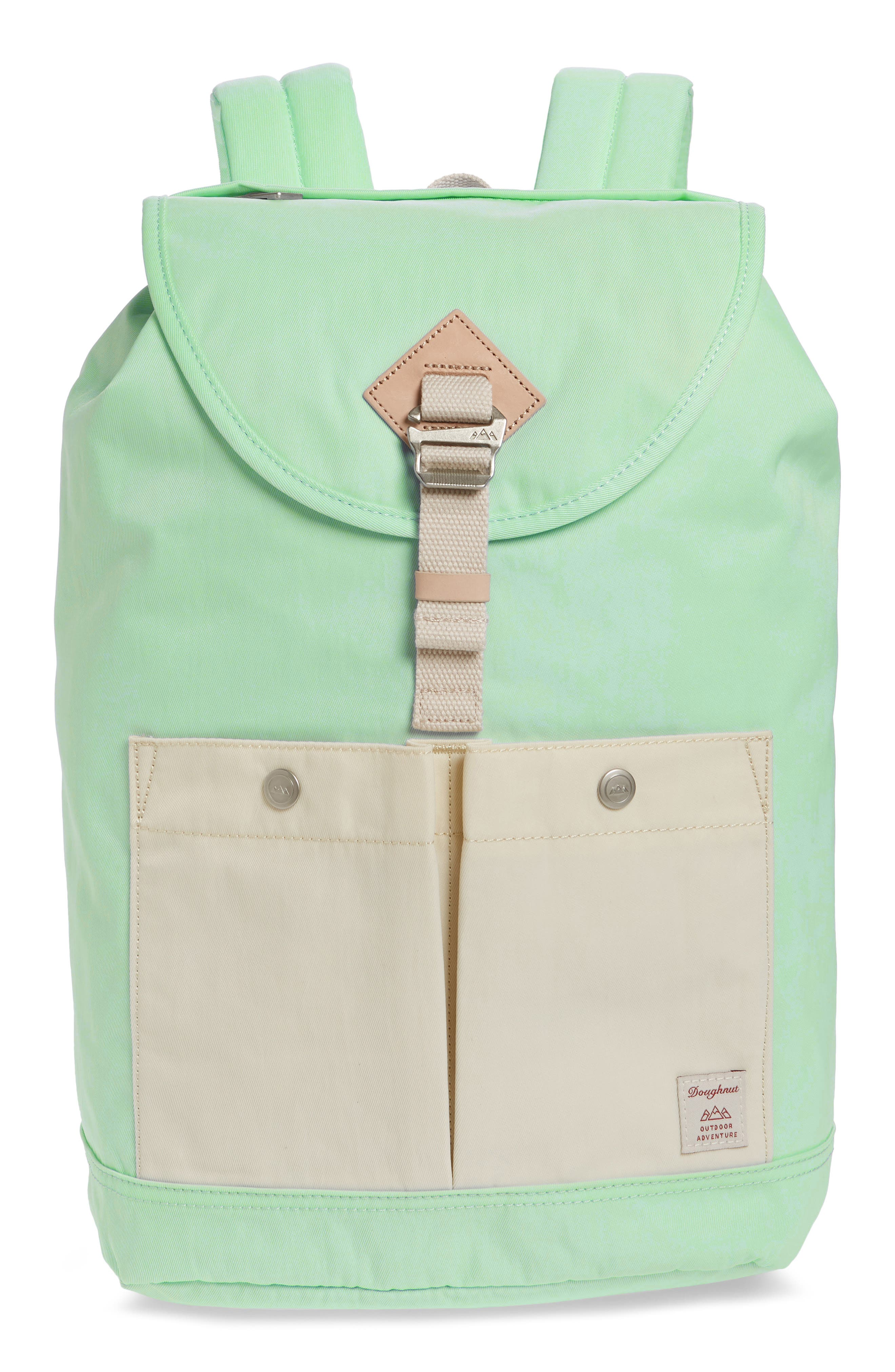 DOUGHNUT Montana Water Repellent Backpack - Green in Soda/ Cream