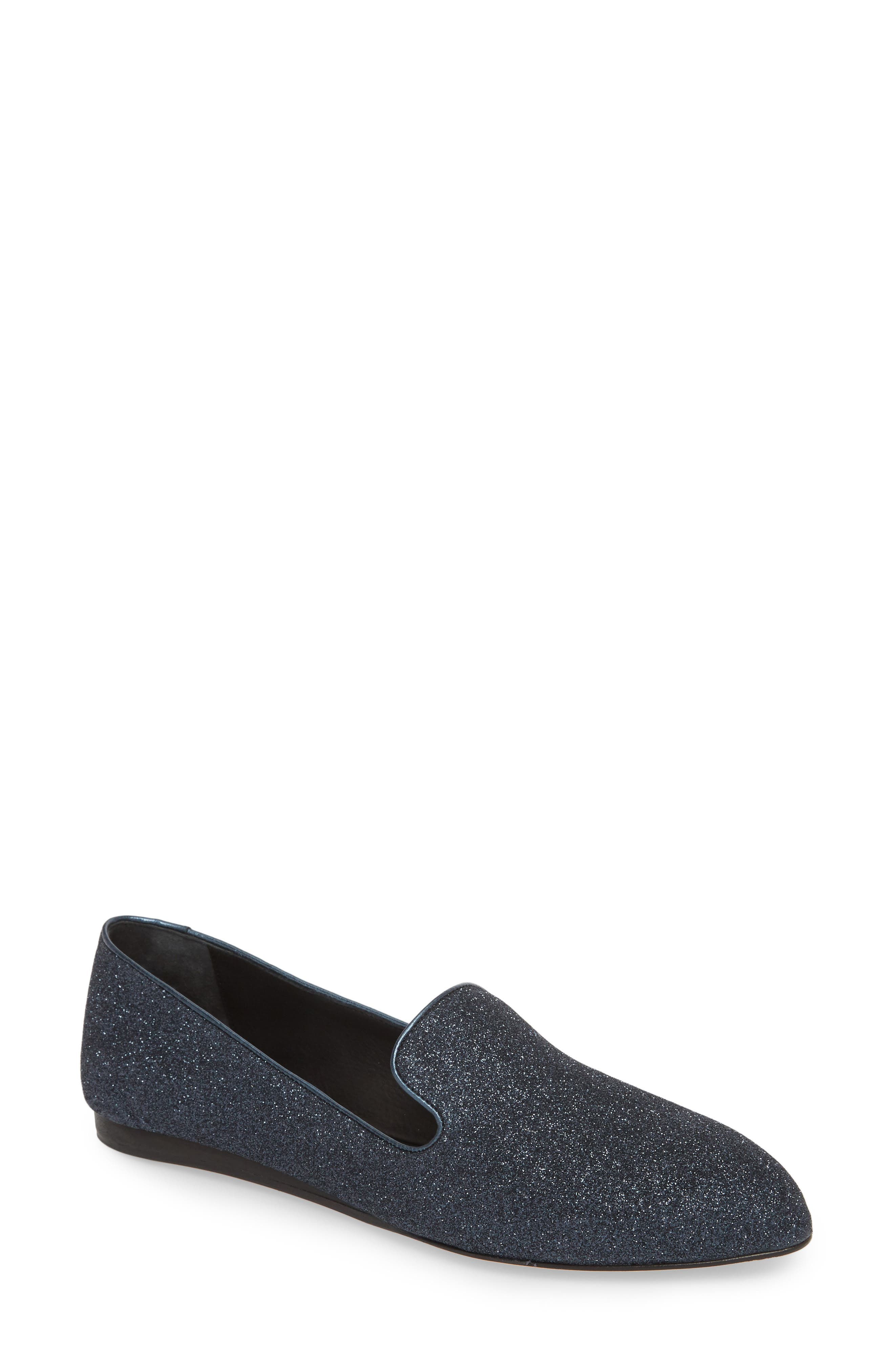 Griffin Pointy Toe Loafer,                         Main,                         color, Midnight