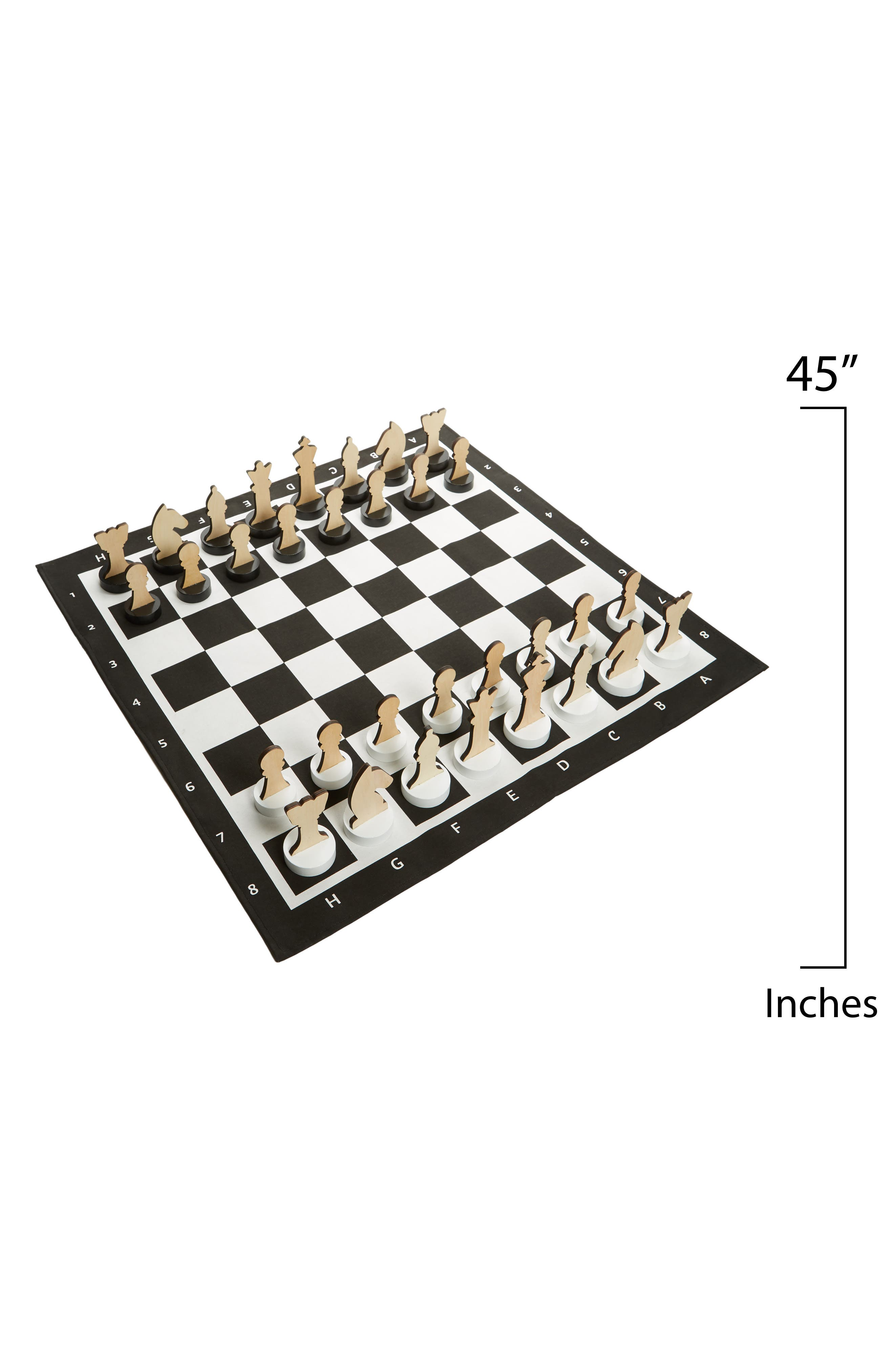 XL Indoor/Outdoor Chess Game,                             Alternate thumbnail 2, color,                             Black