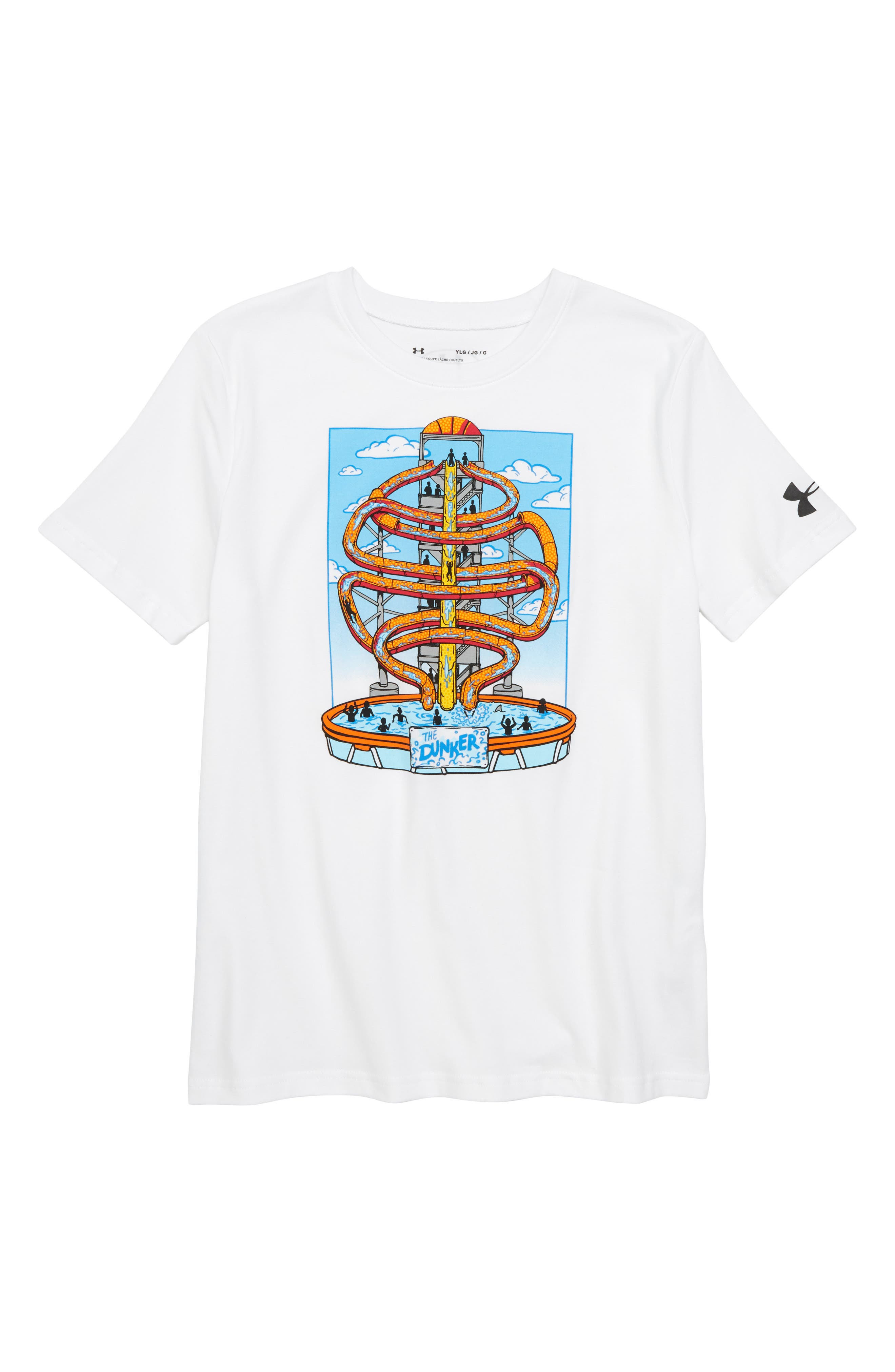 Water Park Graphic T-Shirt,                             Main thumbnail 1, color,                             White/ Canoe Blue