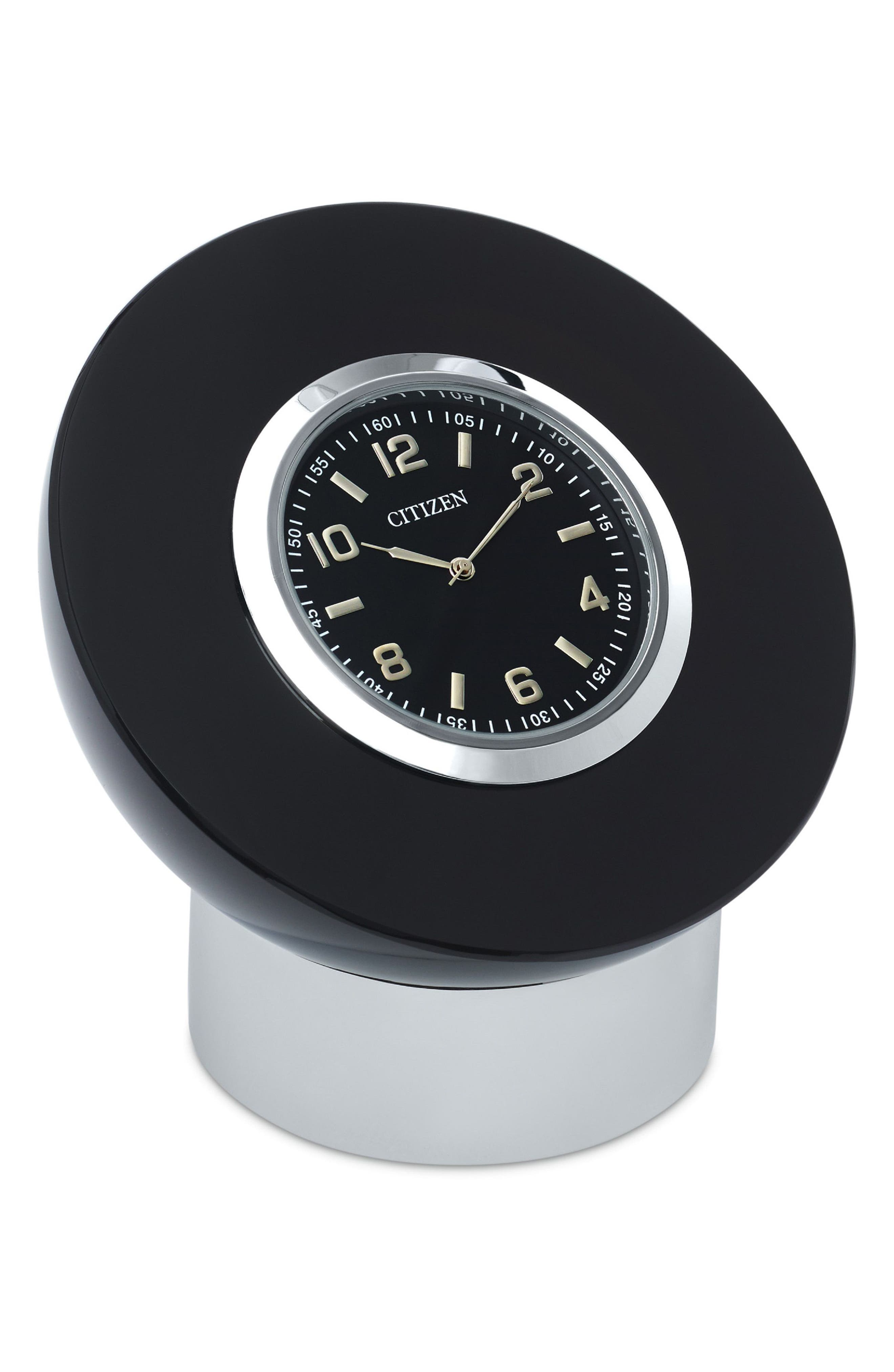 Decorative Accent Desk Clock,                             Main thumbnail 1, color,                             Black