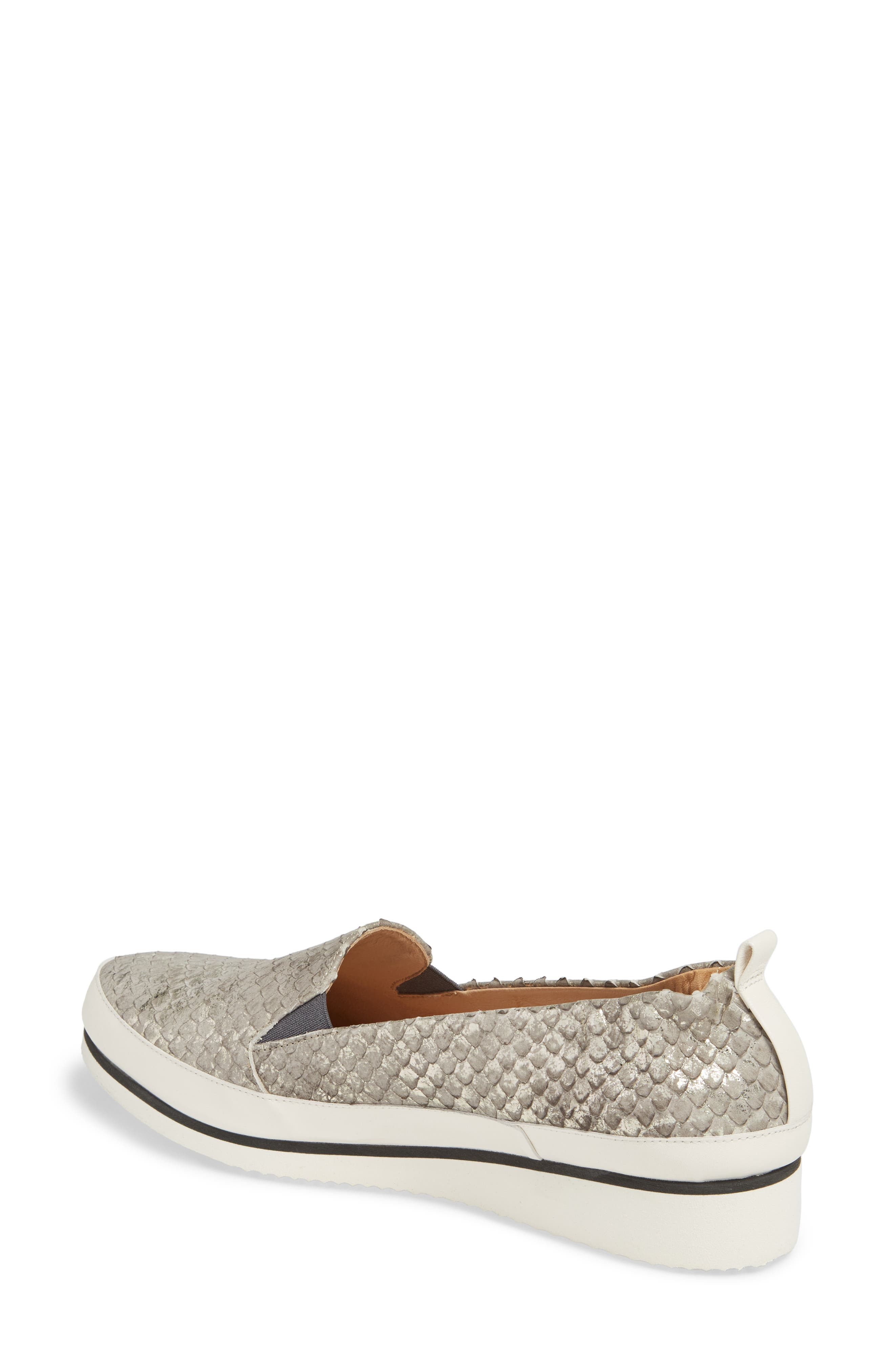 Nell Slip-On Sneaker,                             Alternate thumbnail 2, color,                             Pewter Leather