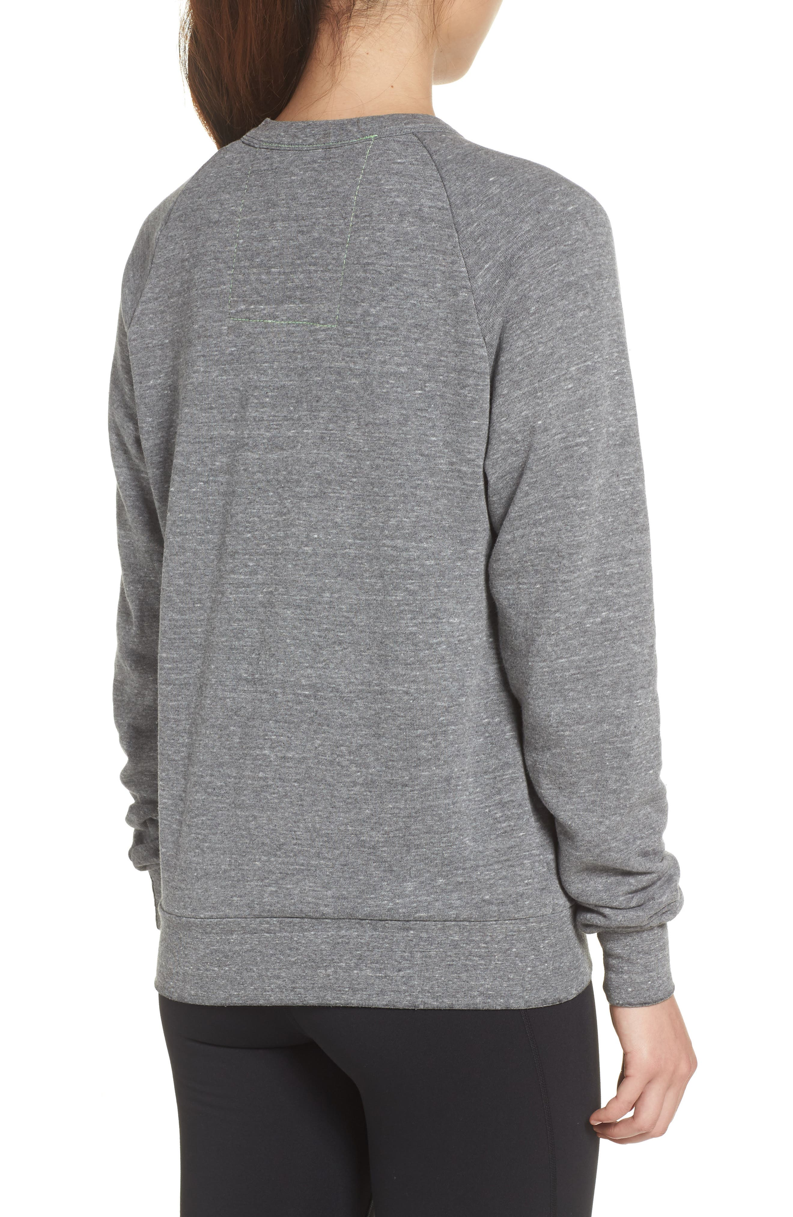 Bolt Zip Hoodie,                             Alternate thumbnail 2, color,                             Heather Grey