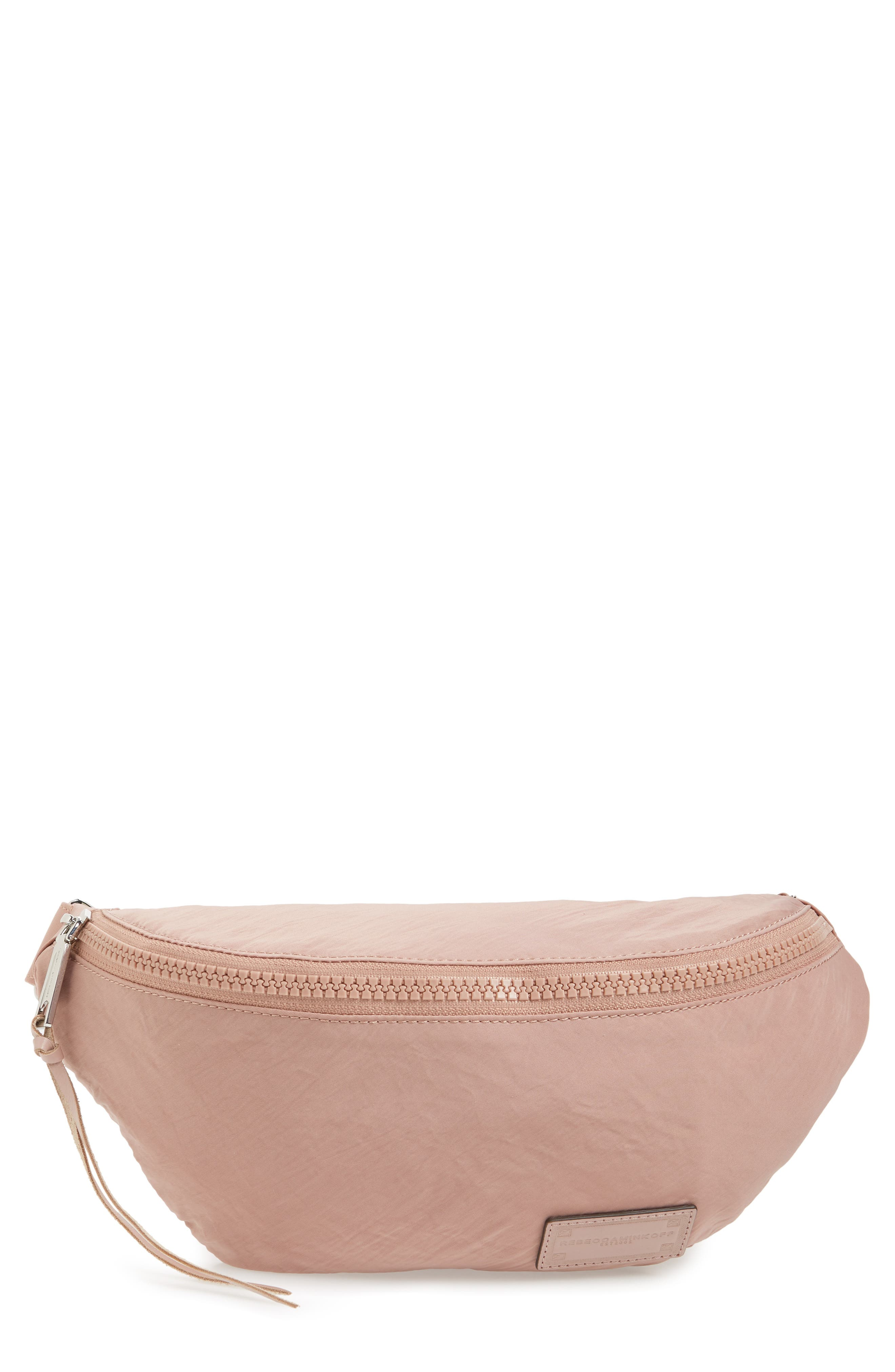 Nylon Belt Bag,                             Main thumbnail 1, color,                             Vintage Pink
