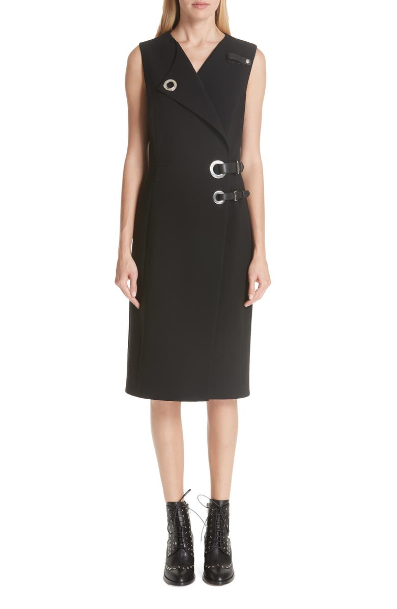 Hardware Detail Sheath Dress