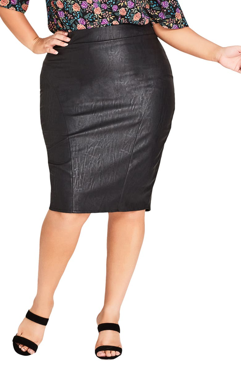 Truth Faux Leather Pencil Skirt