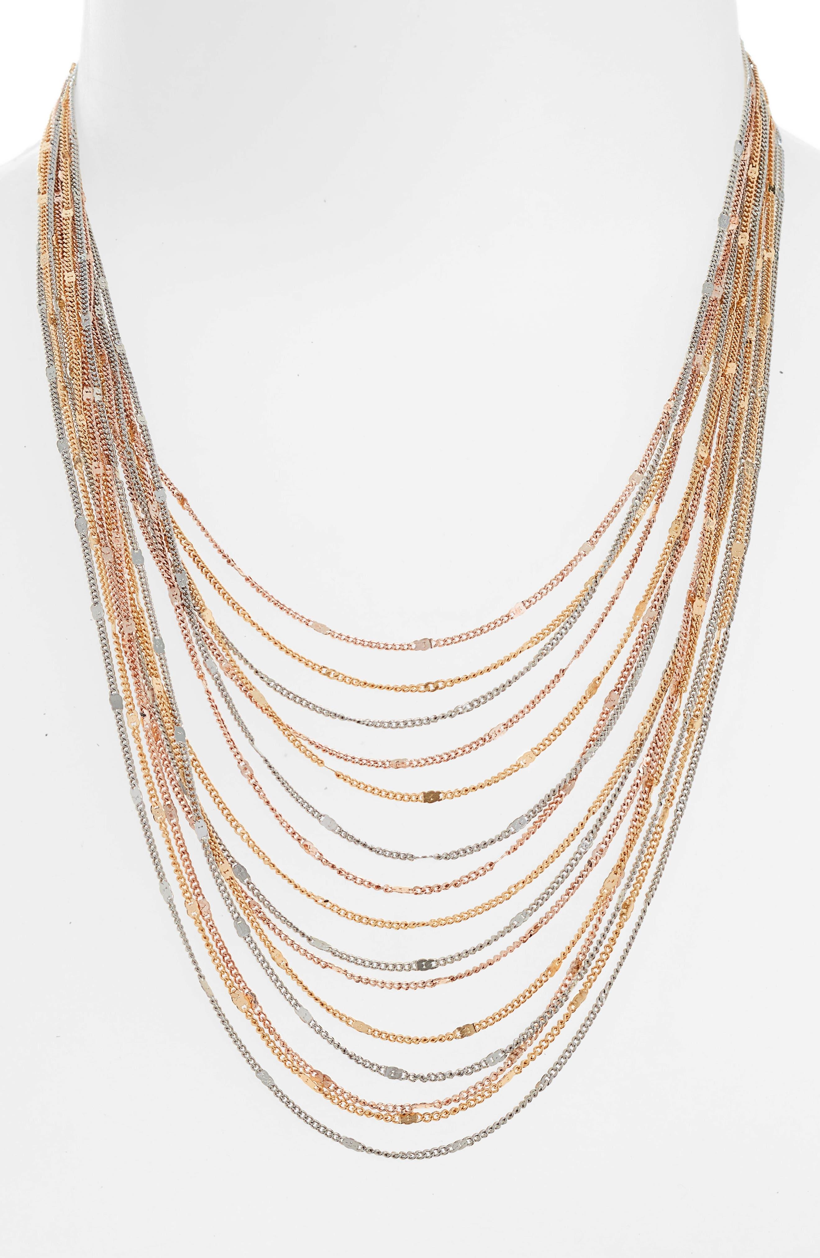 Multirow Necklace,                             Alternate thumbnail 2, color,                             Tritone