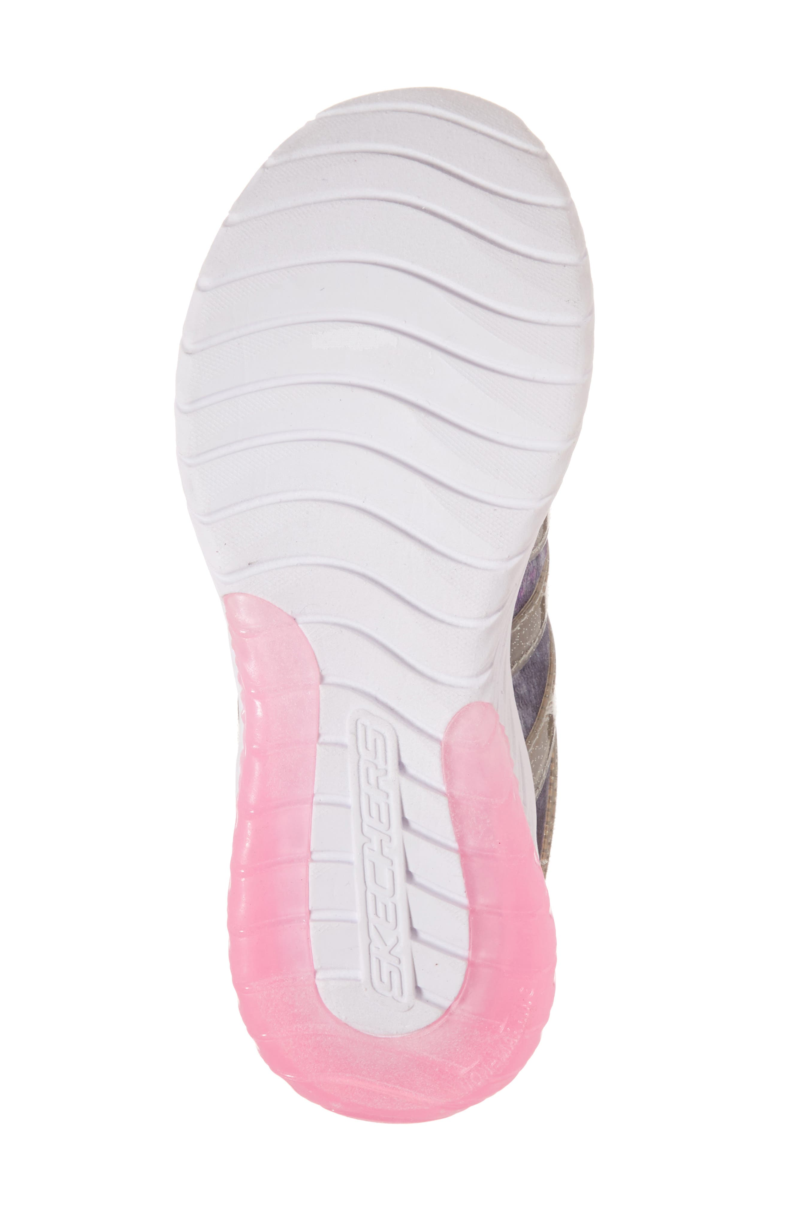 Skech Gem Glitter Sneaker,                             Alternate thumbnail 5, color,                             Charcoal/ Hot Pink