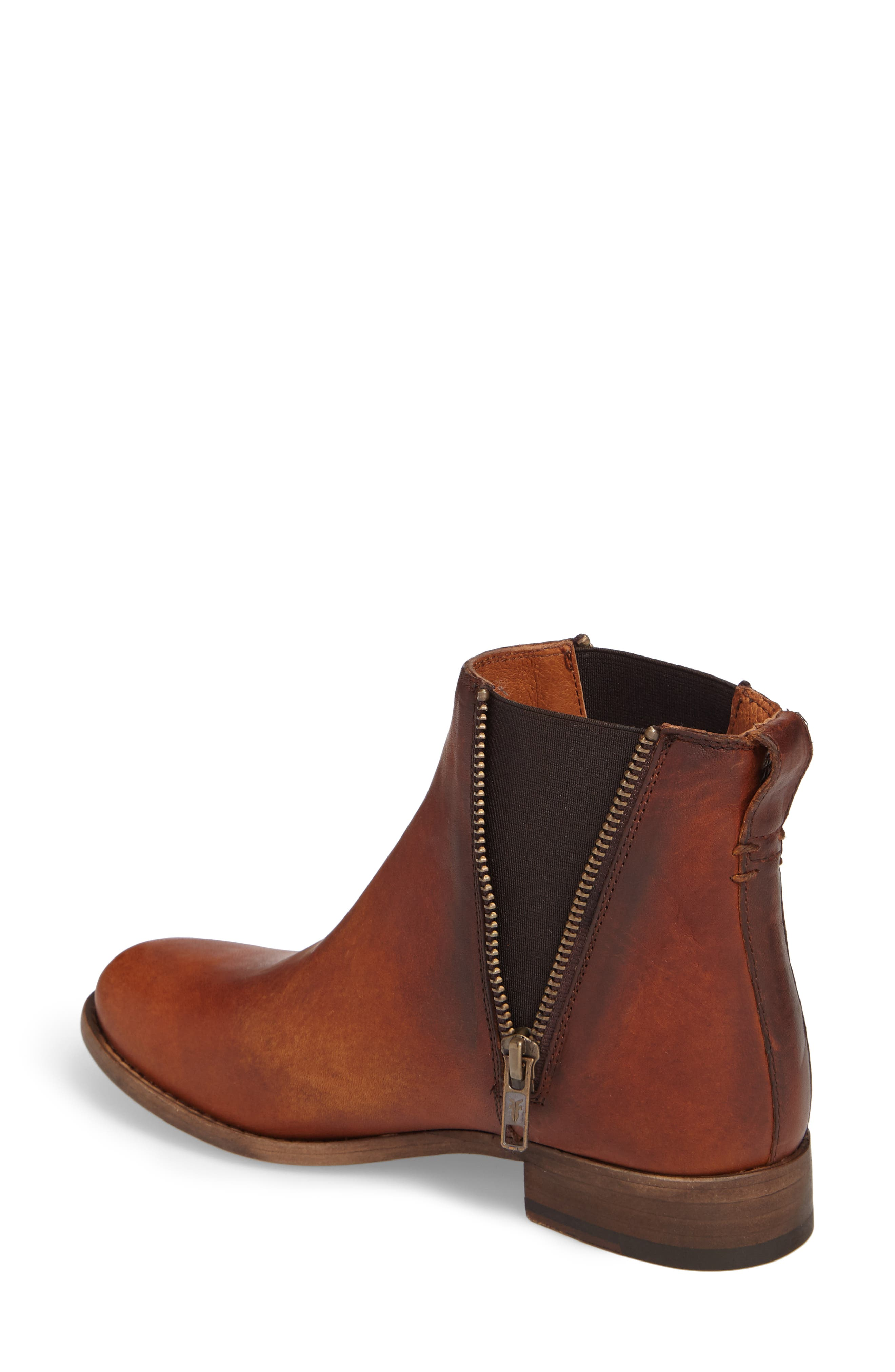 Carly Chelsea Boot,                             Alternate thumbnail 2, color,                             Cognac Leather