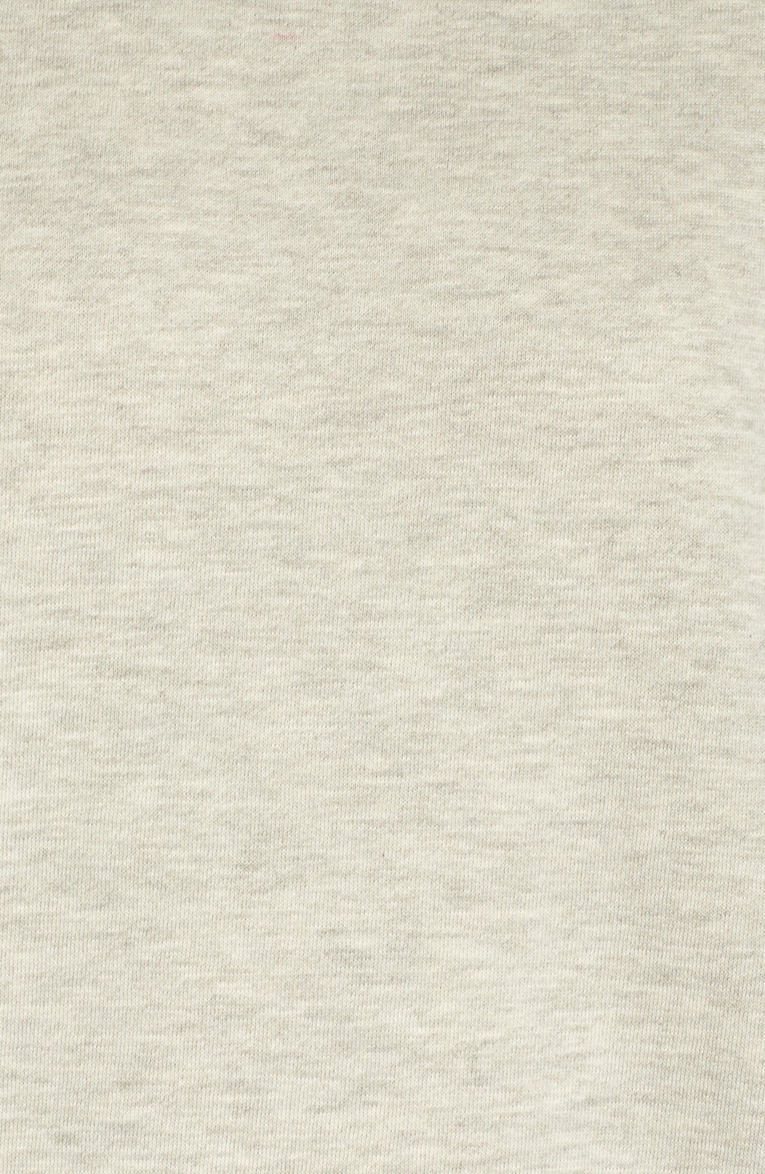 Lounge Sweatshirt Dress,                             Alternate thumbnail 3, color,                             Pebble Heather / Mauve