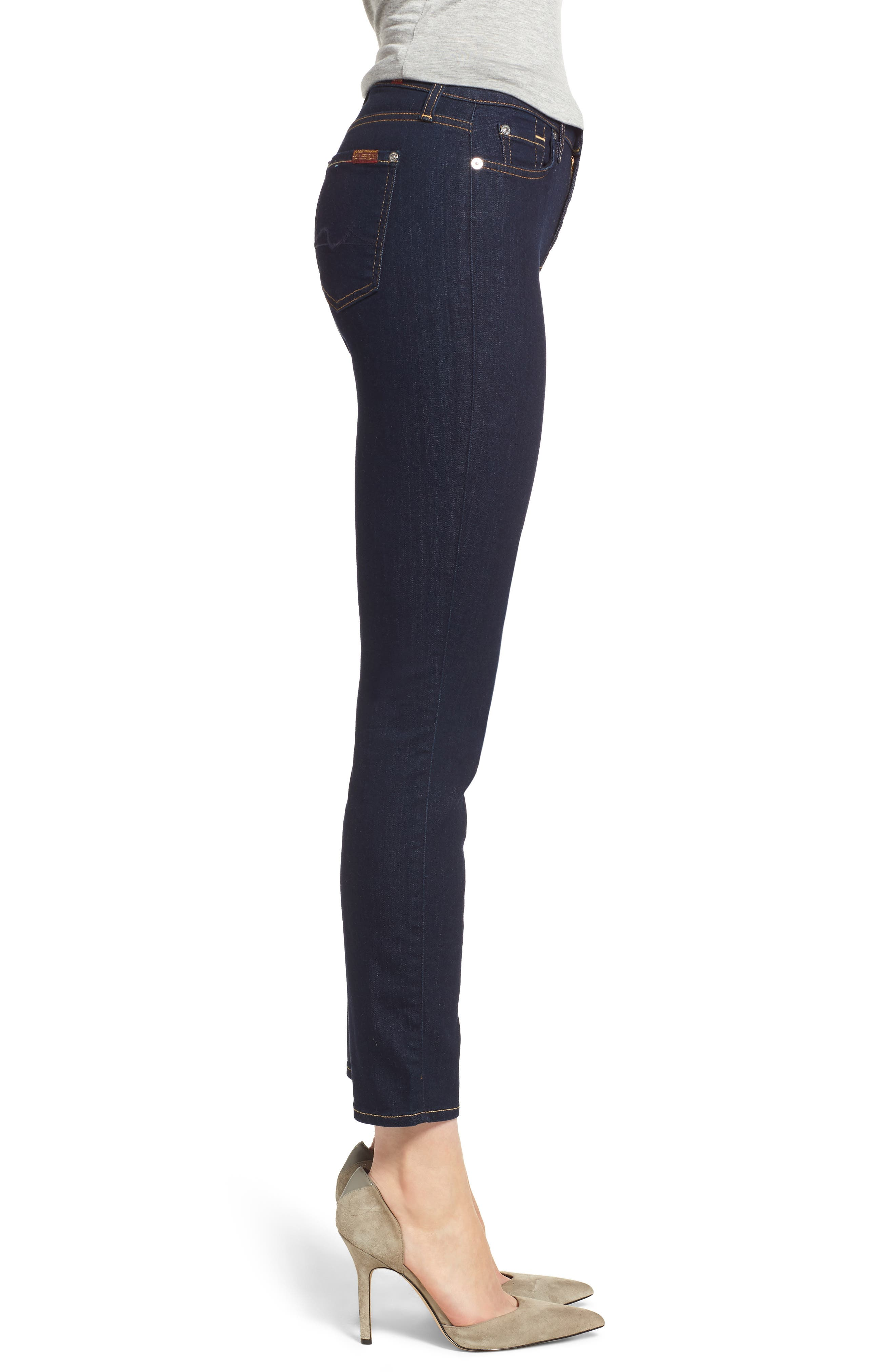 b(air) Roxanne Ankle Skinny Jeans,                             Alternate thumbnail 6, color,                             B(Air) Authentic Rinse