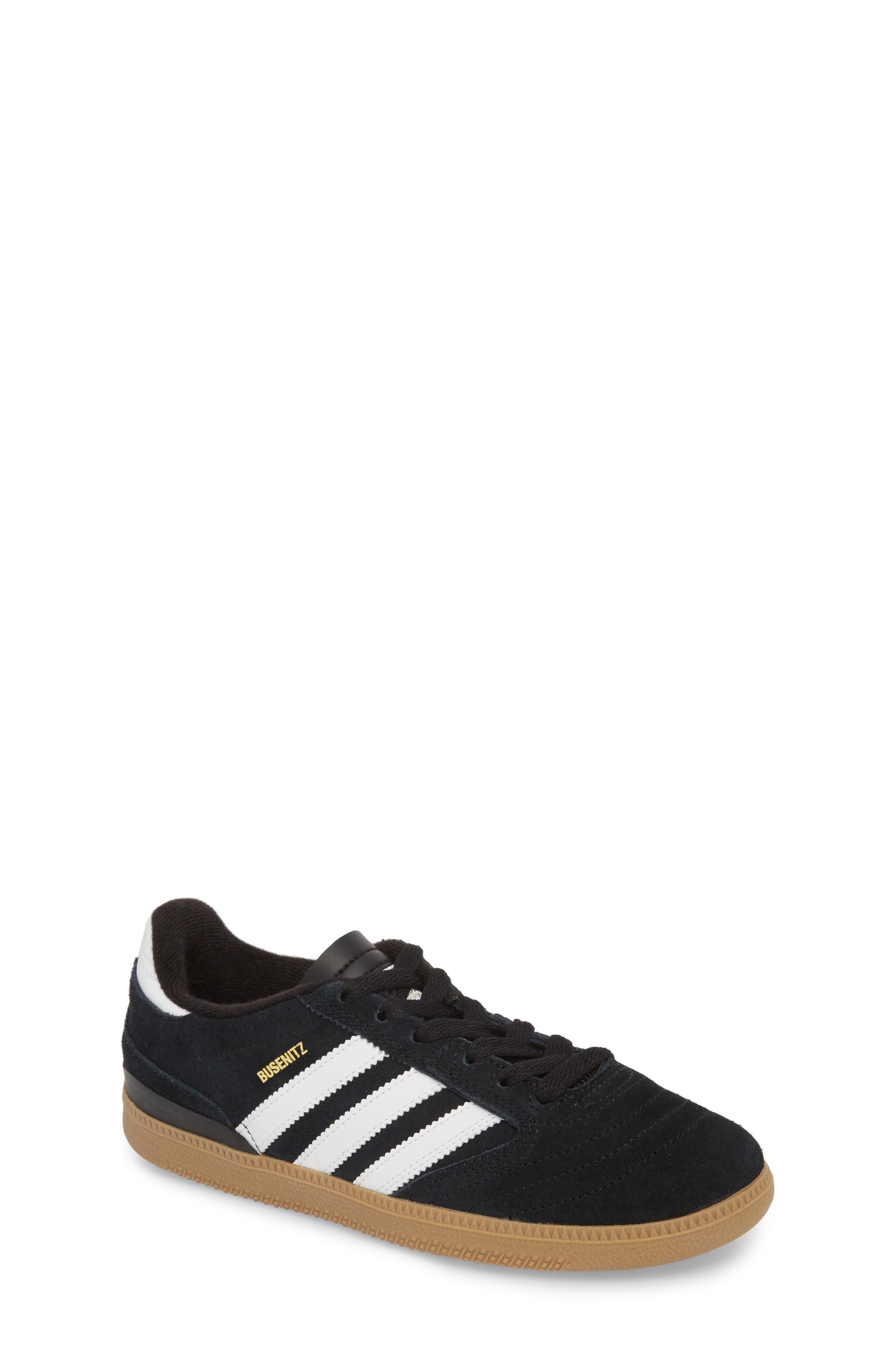 Busenitz Skateboarding Sneaker,                         Main,                         color, Black/ White/ Gold