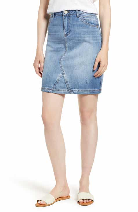 80180729ef Wit & Wisdom Stretch Denim Skirt (Nordstrom Exclusive)