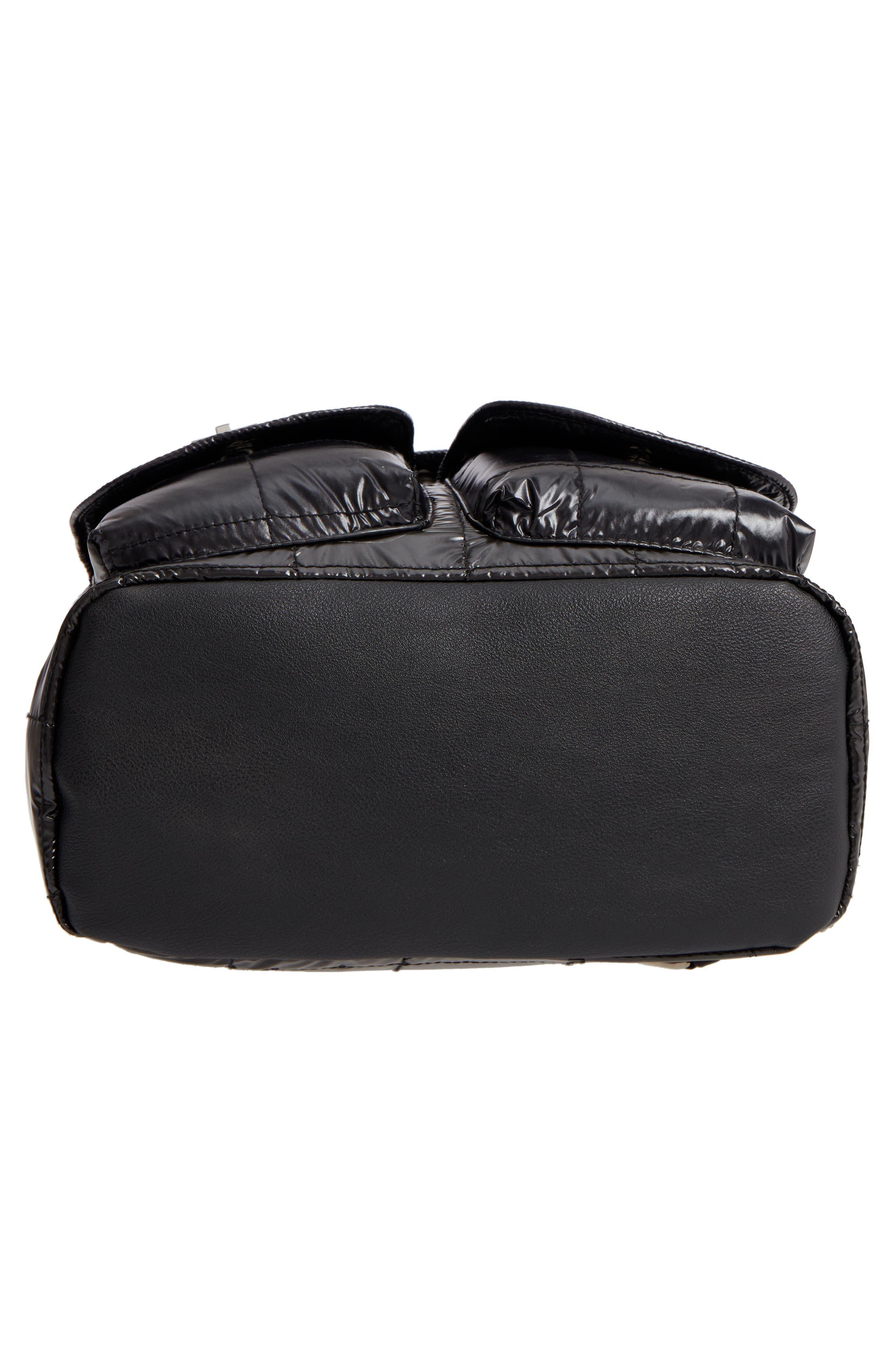 Puffer Backpack,                             Alternate thumbnail 4, color,                             Black